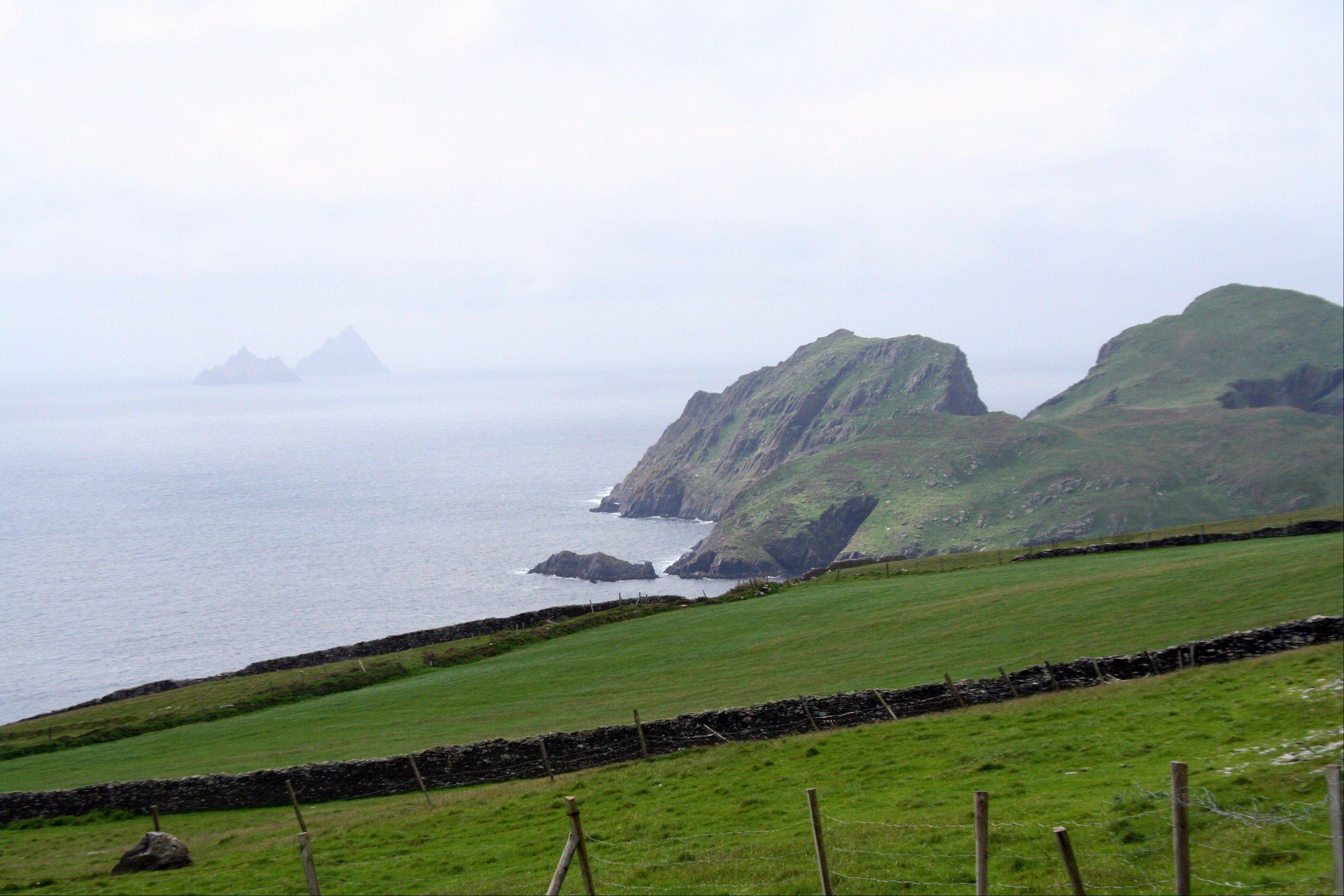 A view of the Skellig Islands off the coast of the Iveragh Peninsula in County Kerry, Ireland.