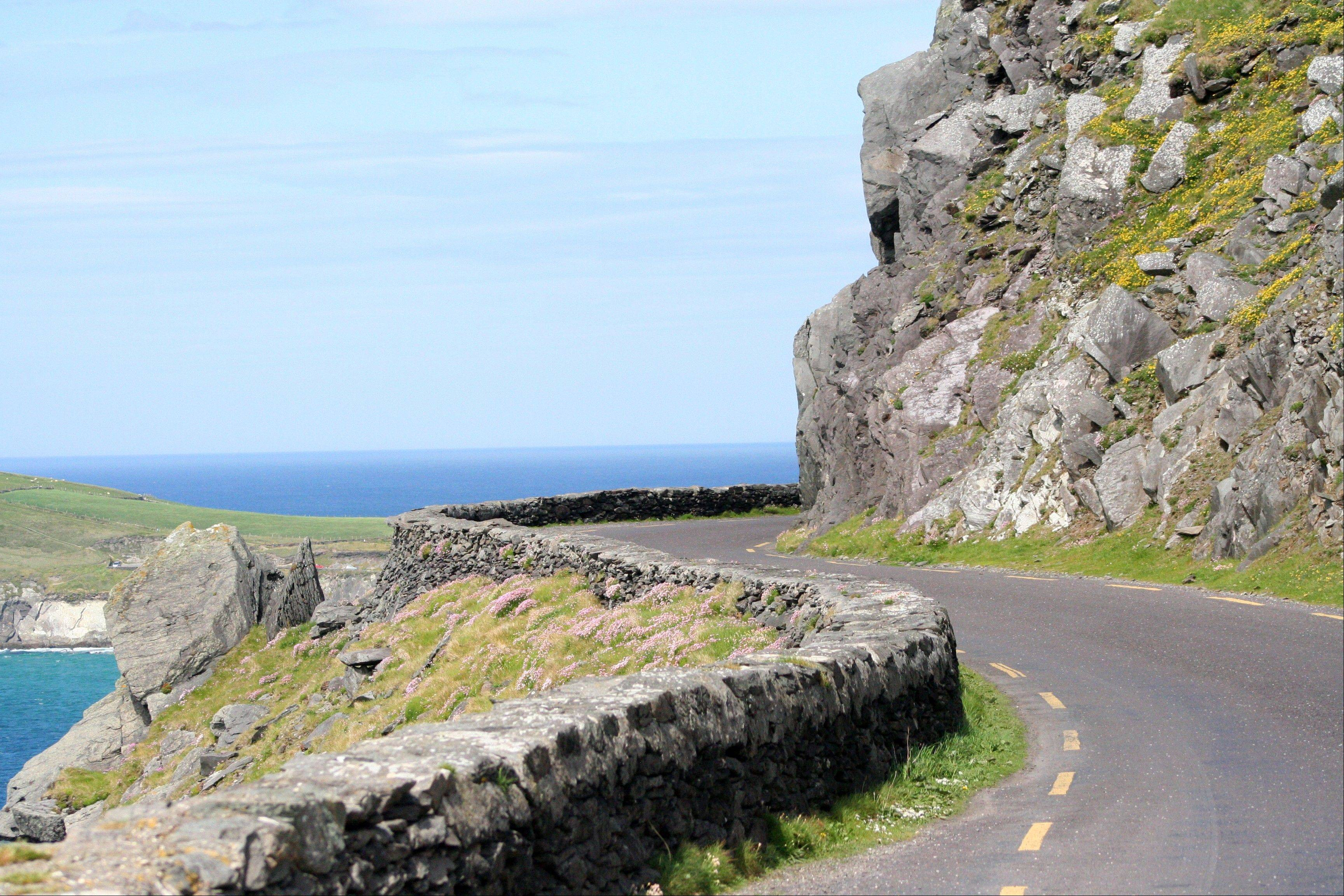 The swerving road at the tip of the Dingle Peninsula in County Kerry.