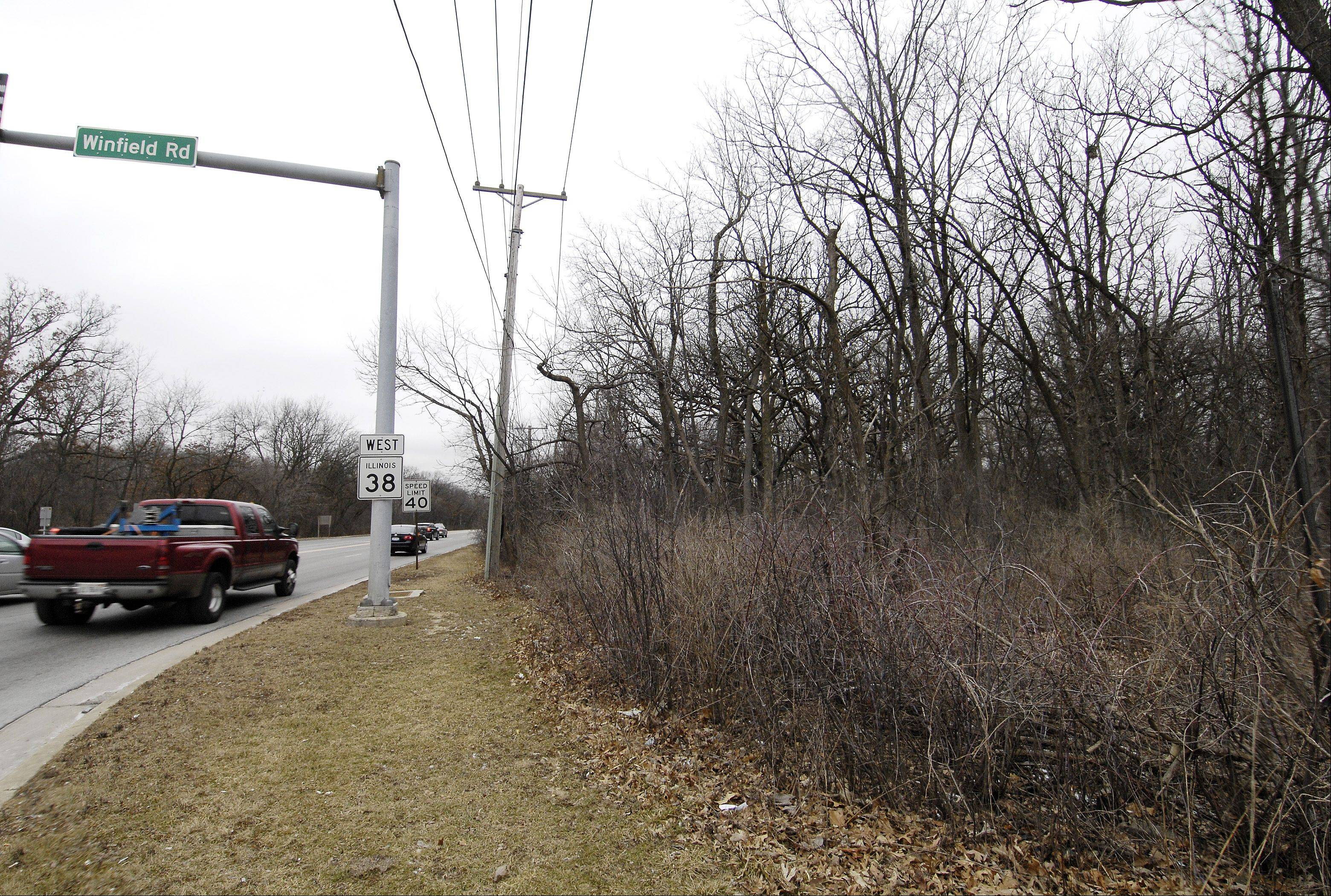 Winfield village board members on Thursday are expected to approve plans to rezone residential parcels along Roosevelt Road, west of Winfield Road. Several candidates in the village trustee race oppose the move.