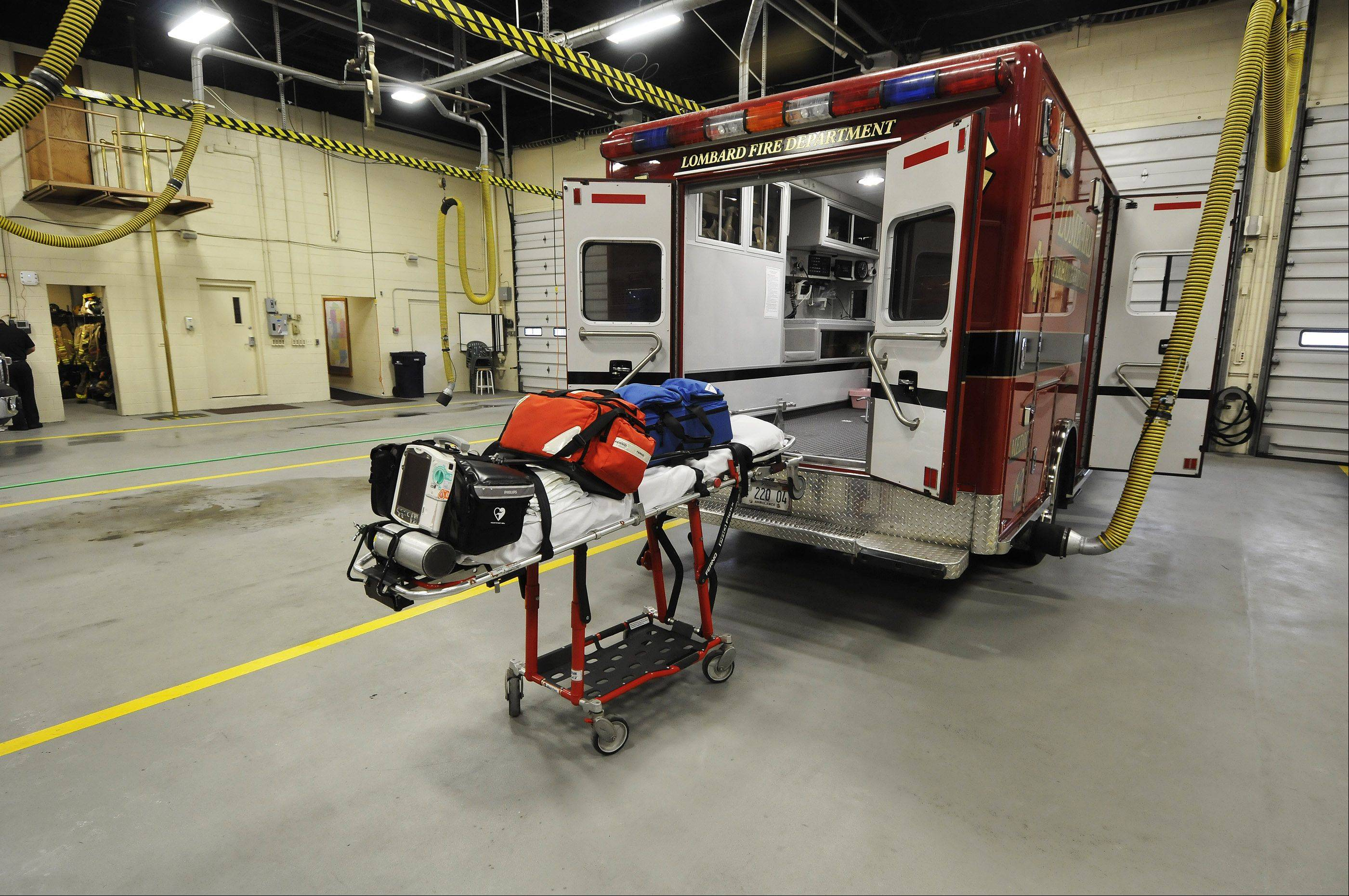 The Lombard Fire Department aims to have three ambulances staffed and ready to respond to medical emergencies at all times, but when personnel falls below 16 firefighters on a shift, one ambulance remains unstaffed.