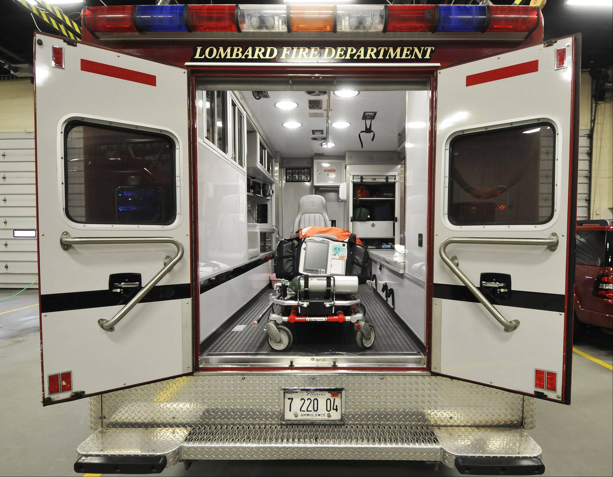 The Lombard Fire Department is two firefighters short of its full authorized staffing of 63, which fire department officials say sometimes makes it difficult to keep a third ambulance staffed and ready to respond to emergencies.
