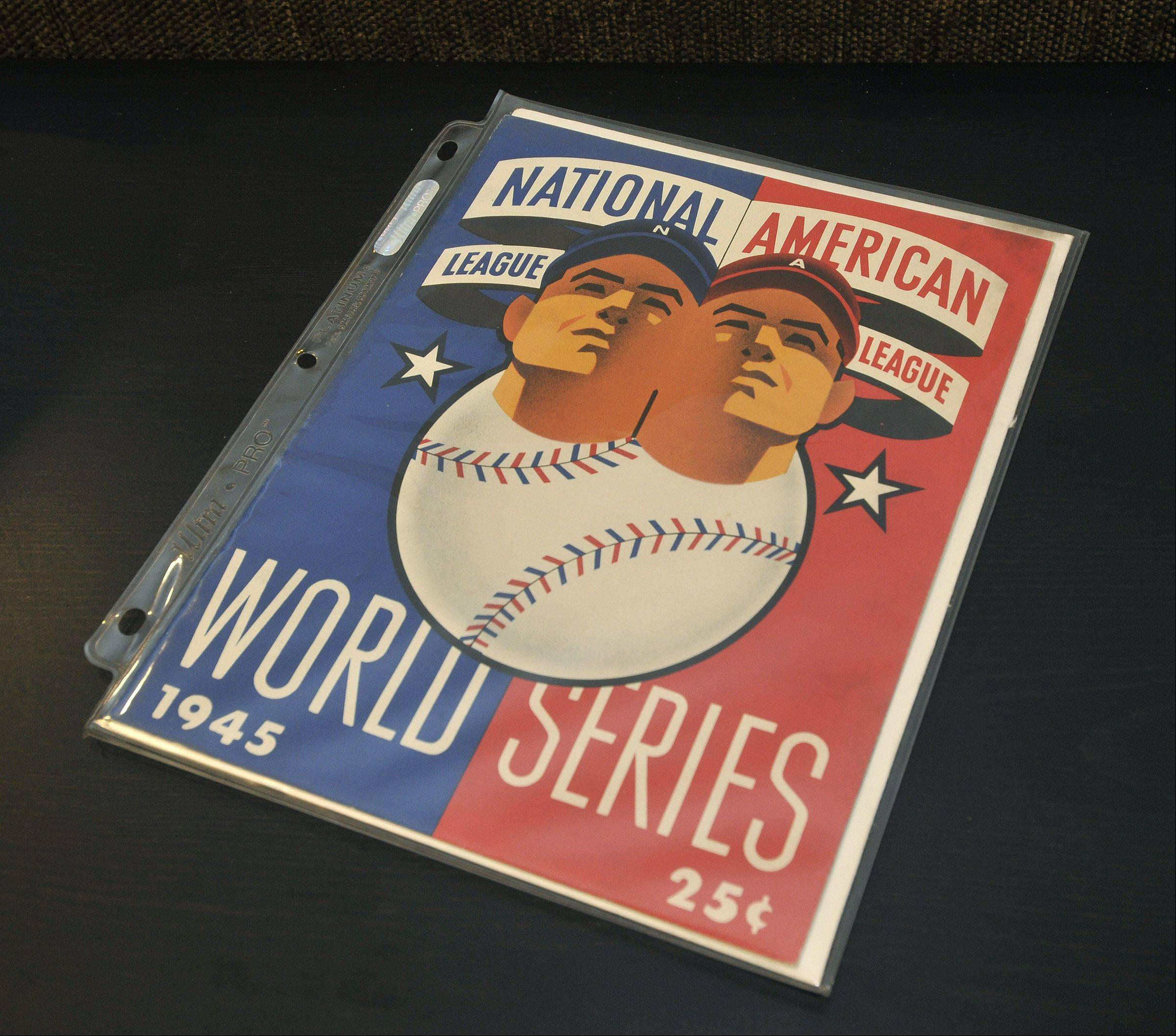 Among the souvenirs in the eclectic collections of longtime Cubs fans Kelley Neal and Sue Kren is this program from the team's last World Series appearance in 1945.