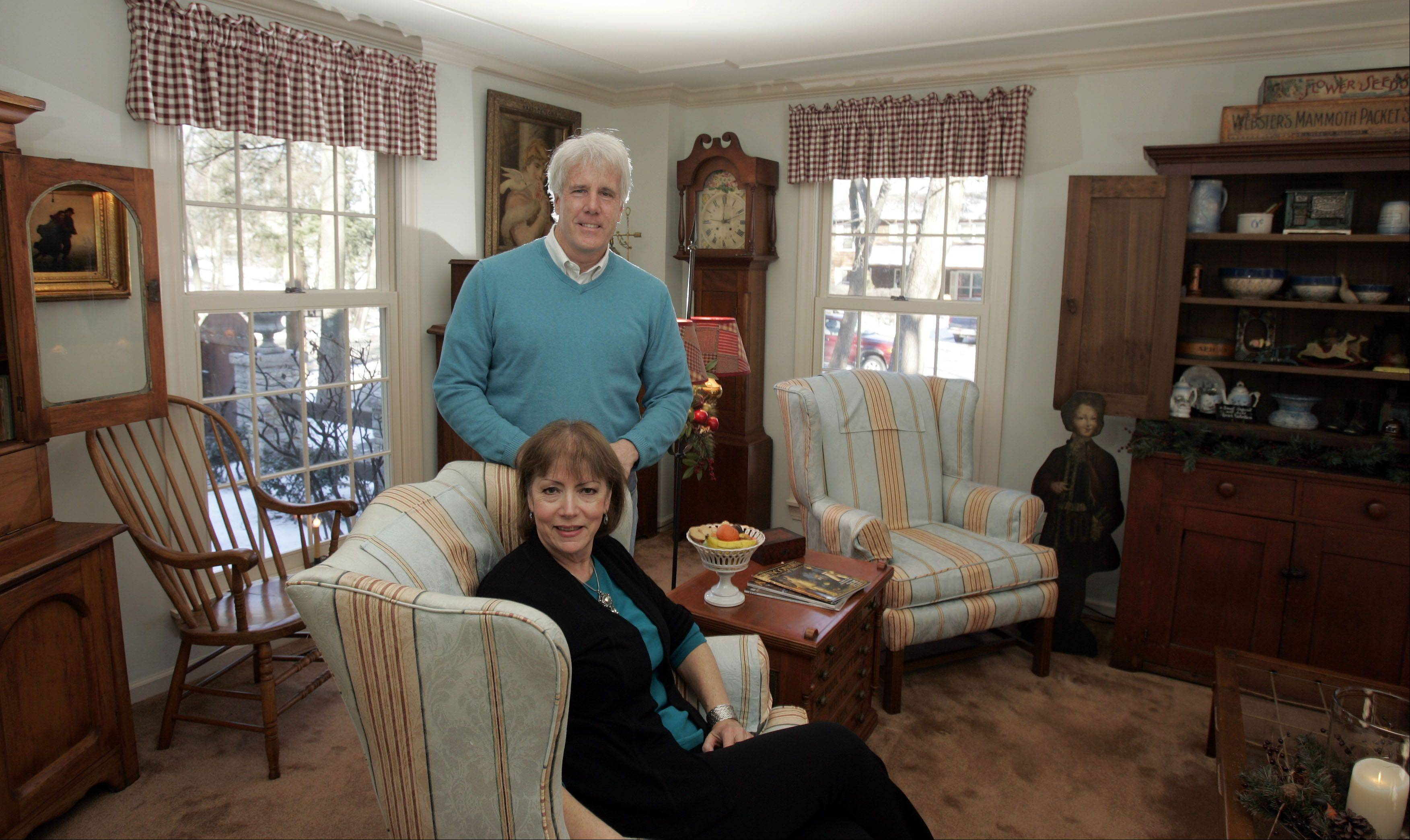 Jim and Debbie McArdle have learned a lot about antiques in their decades of collecting.