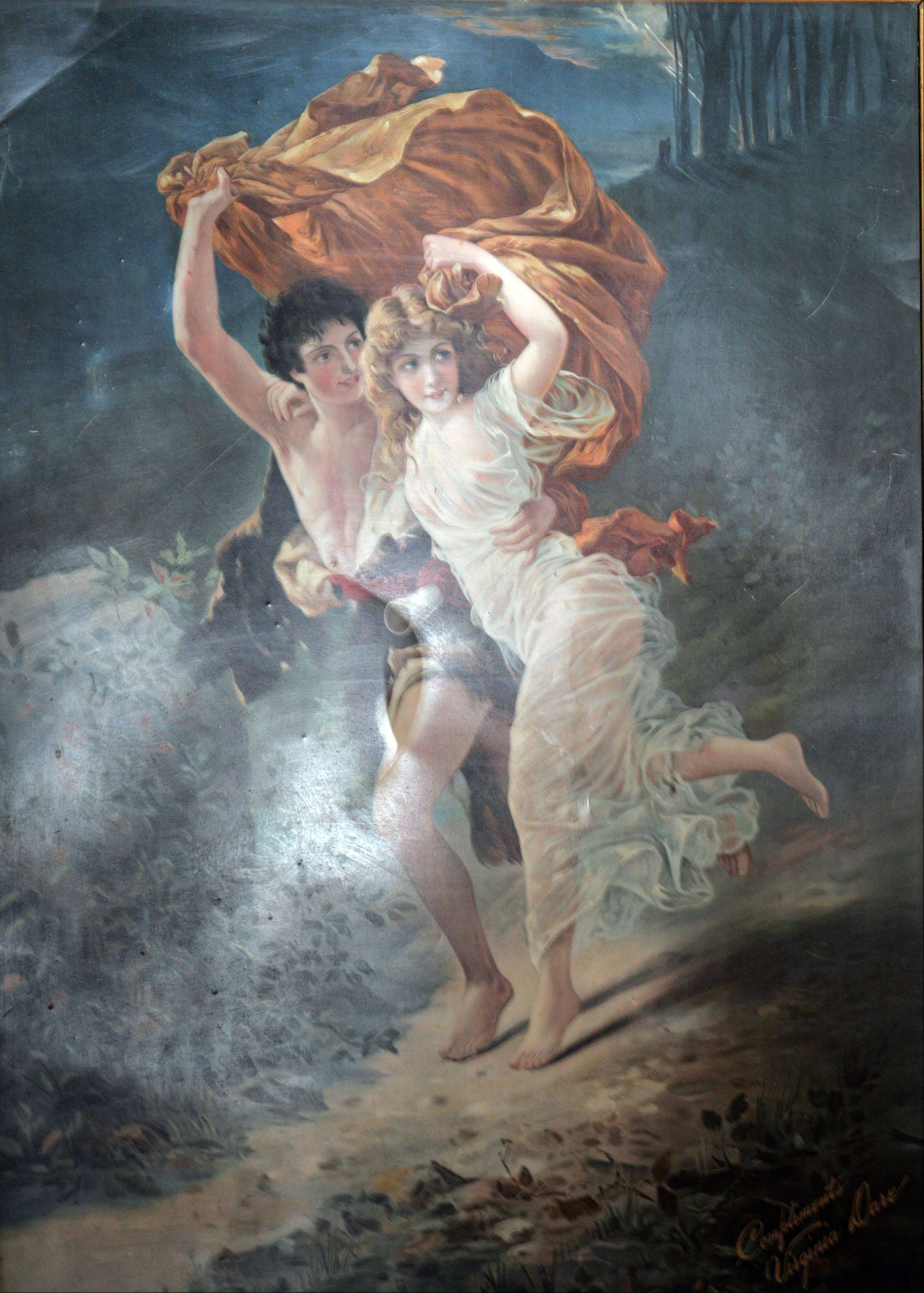 Pierre Auguste Cot's The Storm inspired many copies like this one.