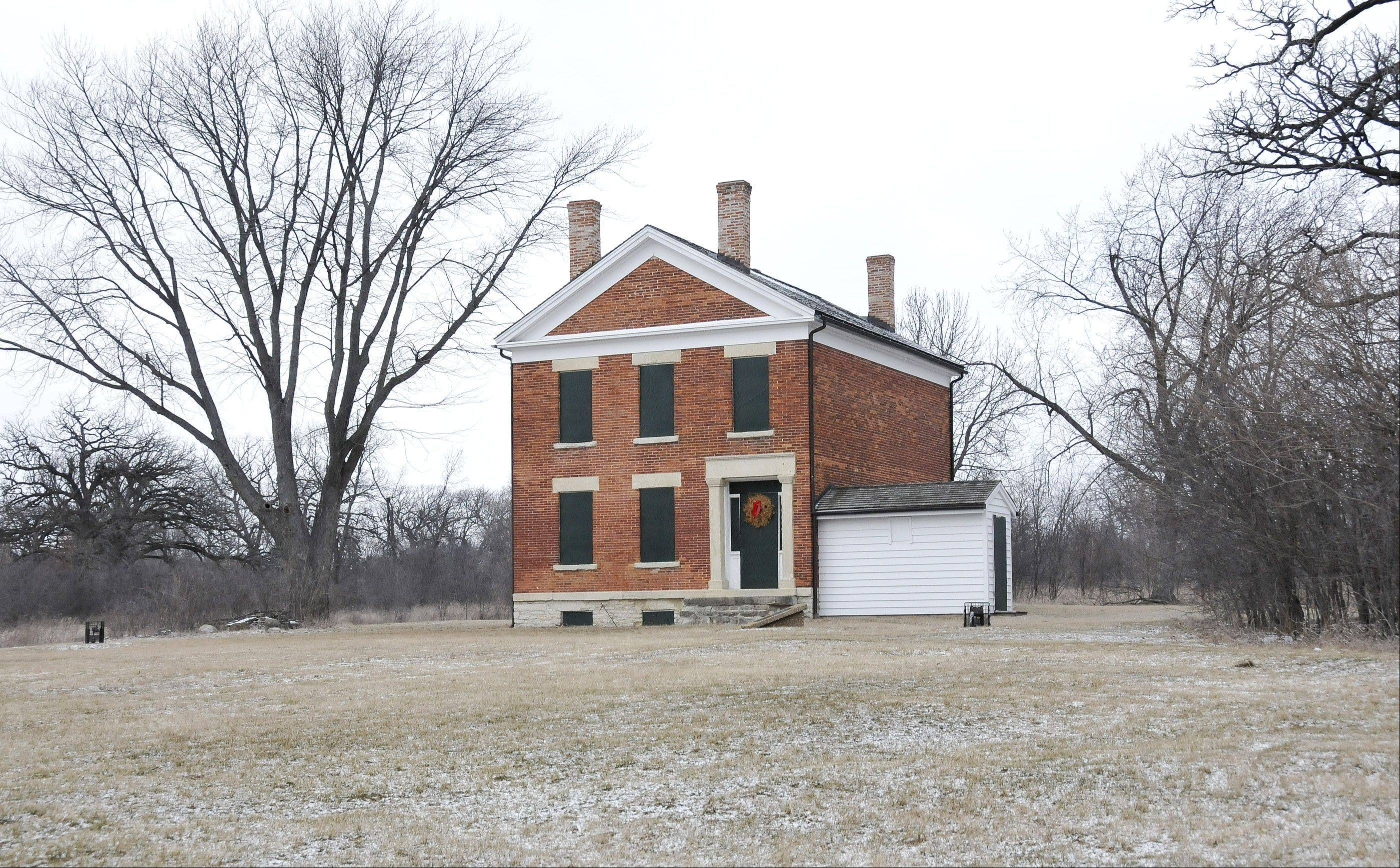 Baker House: Built in the 1840s, the house is believed to be a rare example of Greek Revival architecture in the area and one of the oldest brick homes in DuPage. Preservationists saved the home from disrepai
