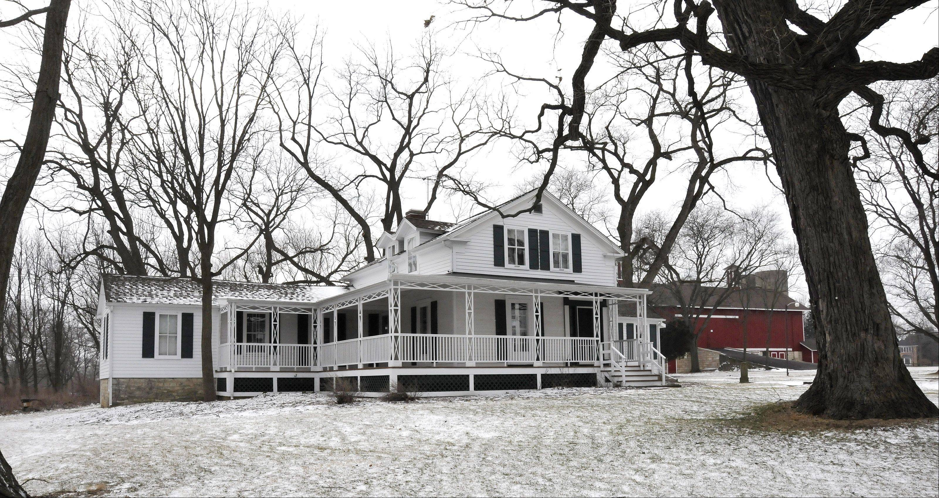 Oak Cottage: The farmhouse at Greene Farm was built by William Briggs Greene in 1841. It was acquired by the forest preserve in 1971.
