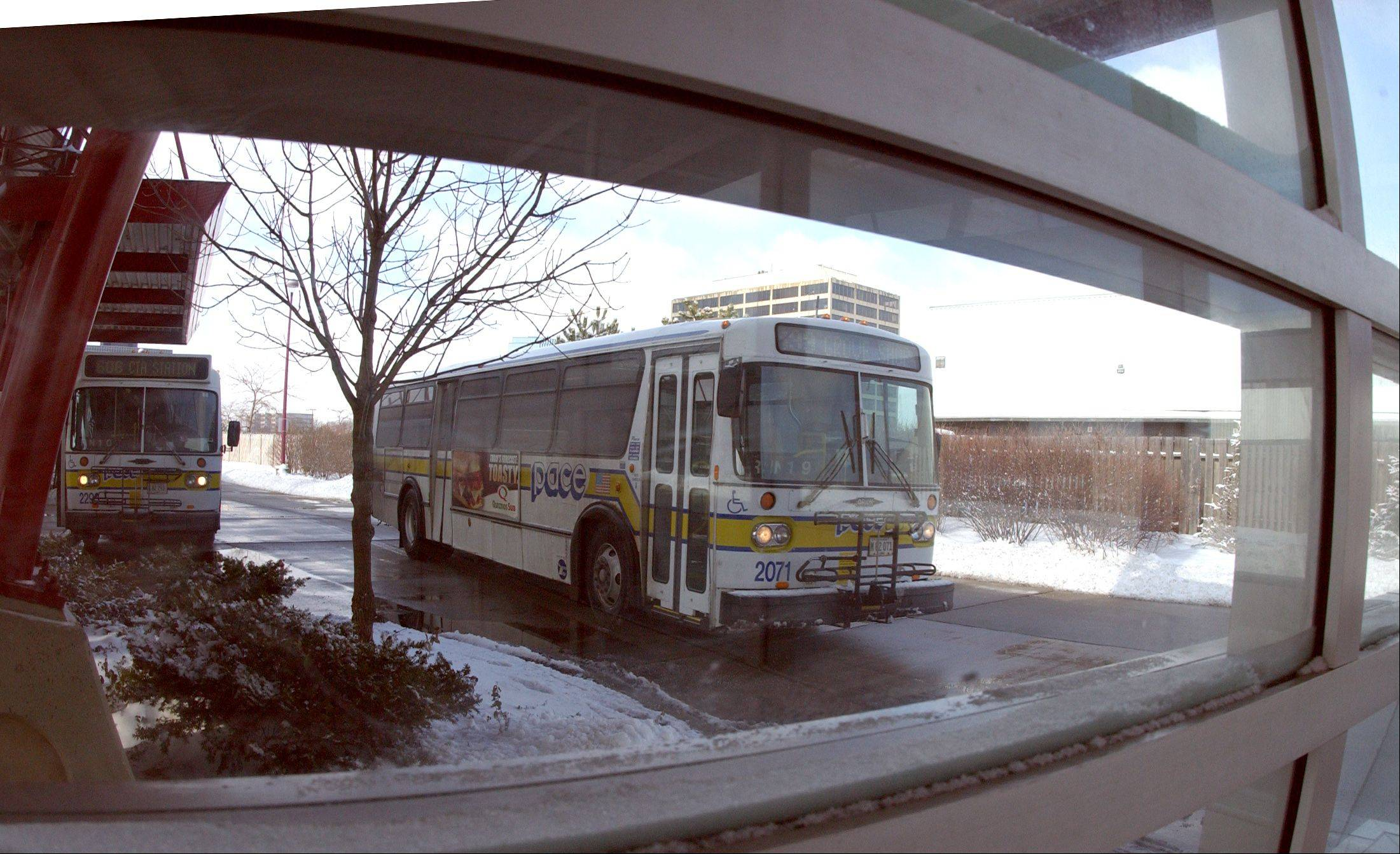 Planned express bus service along I-90 will use Pace's Northwest Transportation Center in Schaumburg as a connector point.