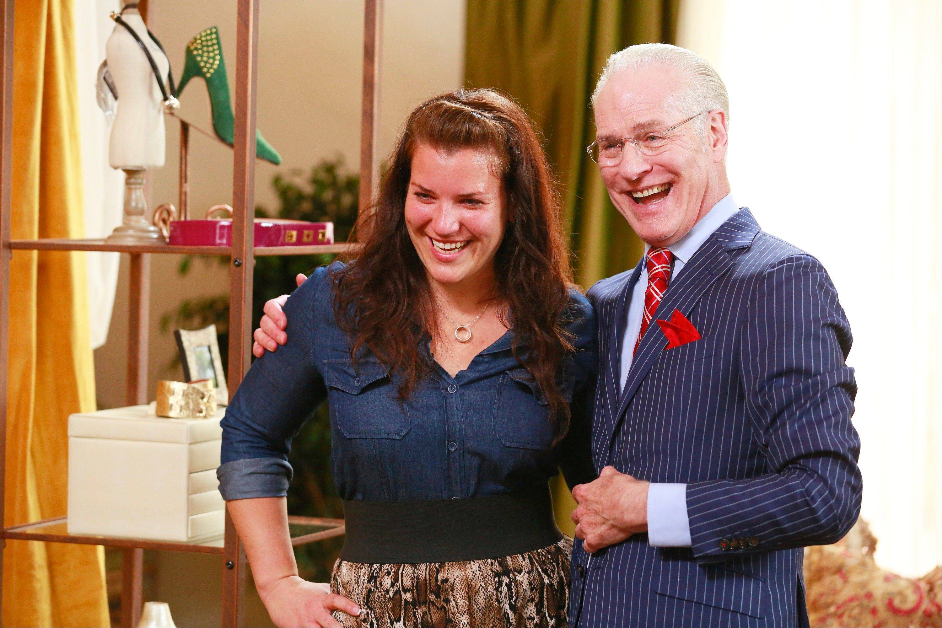 "Danni Allen of Wheeling works with Tim Gunn, celebrity fashion consultant, on Monday's episode of ""The Biggest Loser."""