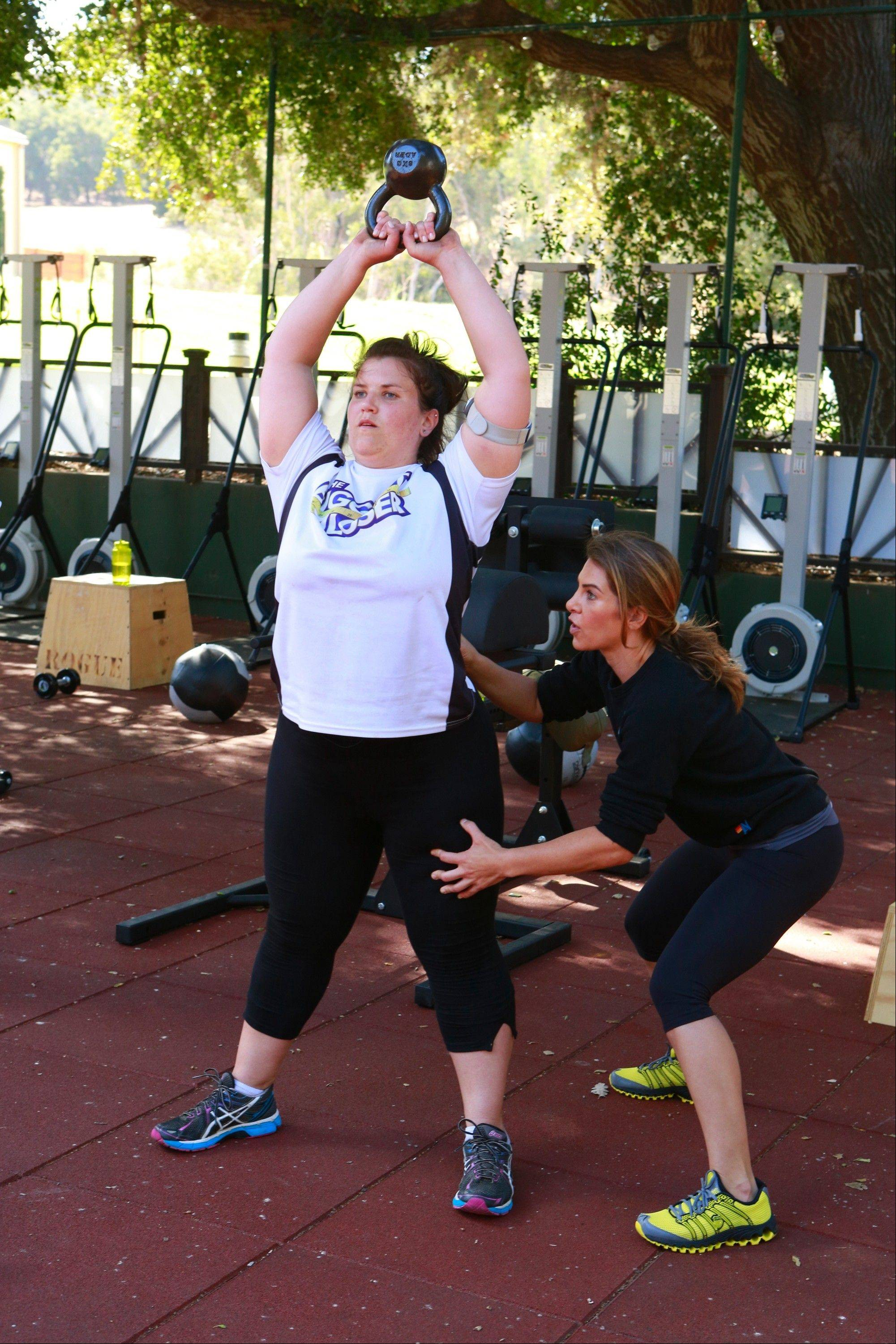 "On the premiere episode of this season's ""The Biggest Loser,"" Danni Allen worked out with her trainer, Jillian Michaels."