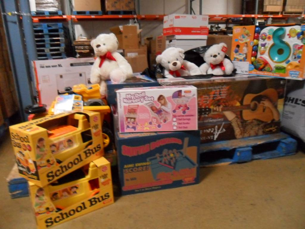 Many of the new toys donated by St. Raphael