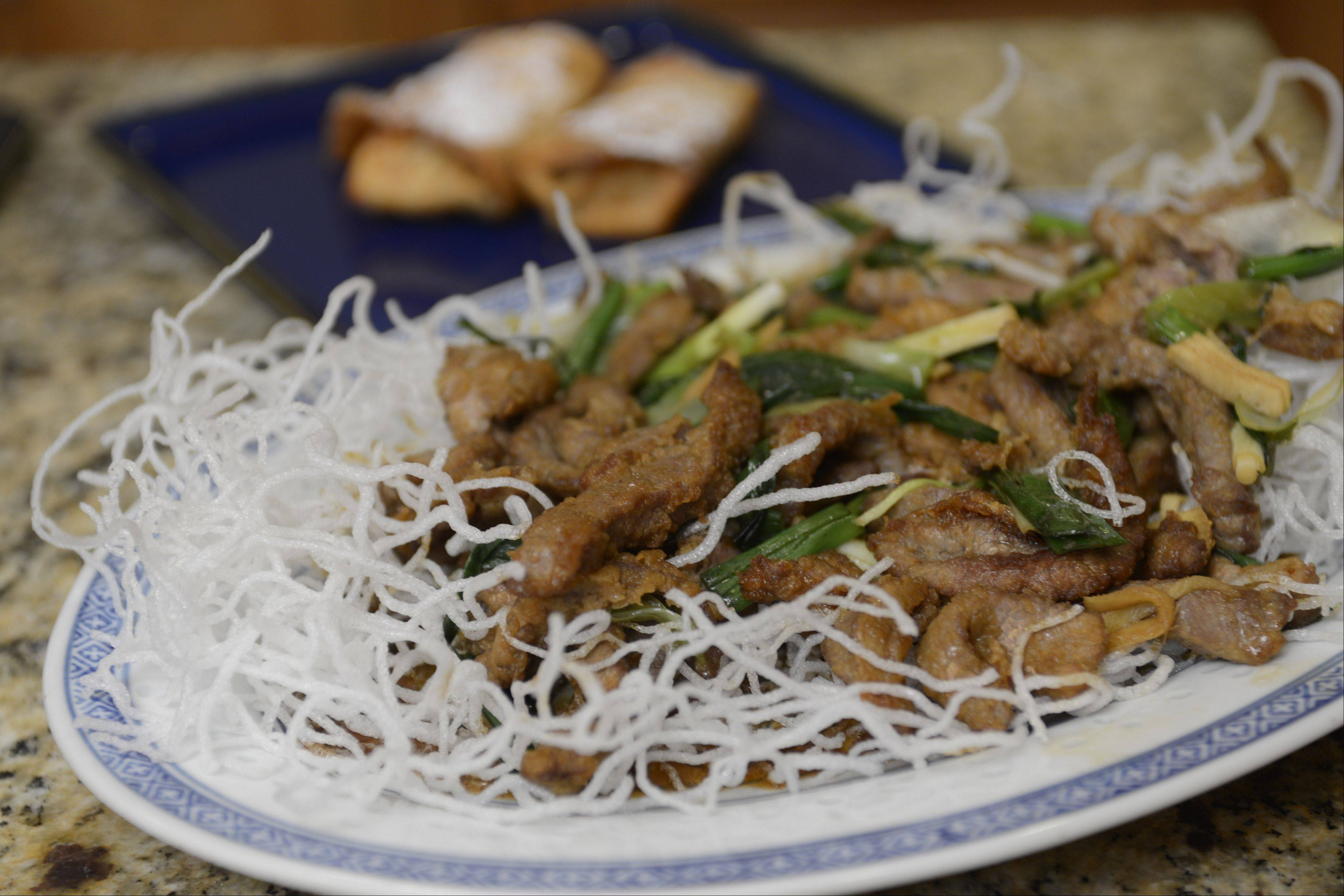 Karen Eng uses flank steak for her version of Mongolian Beef.