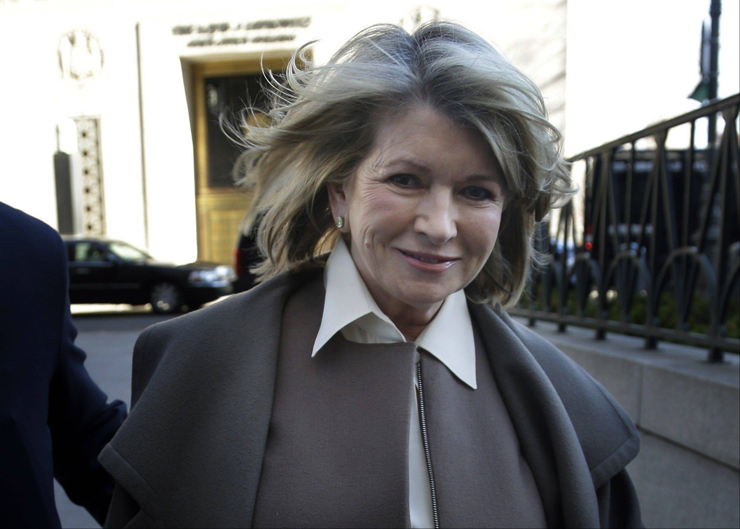 Martha Stewart arrives to court in New York, Tuesday, March 5, 2013. Macy's Inc. is suing the media and merchandising company Stewart founded for breaching an exclusive contract when she signed a deal with J.C. Penney in December 2011 to open shops at most of its stores this spring.