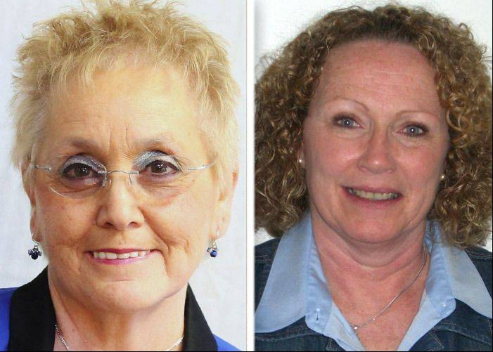 Linda Lucassen, left, and Kathleen Pender, right, are candidates for Round Lake Park mayor.