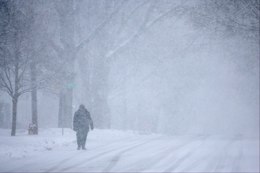 Virginia Brockmann of St. Charles says she takes her morning walks in all kinds of weather.