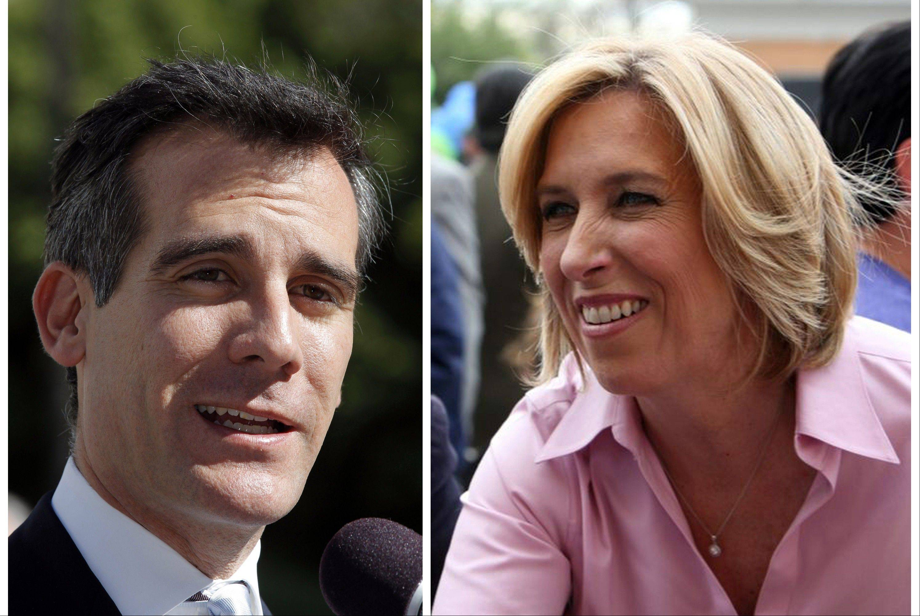 The likely outcome in the heavily Democratic city will send two City Hall regulars, Eric Garcetti, 42, and Wendy Greuel, 51, to a May 21 runoff, since it's unlikely any candidate will clear the majority needed to win outright Tuesday March 5, 2013.