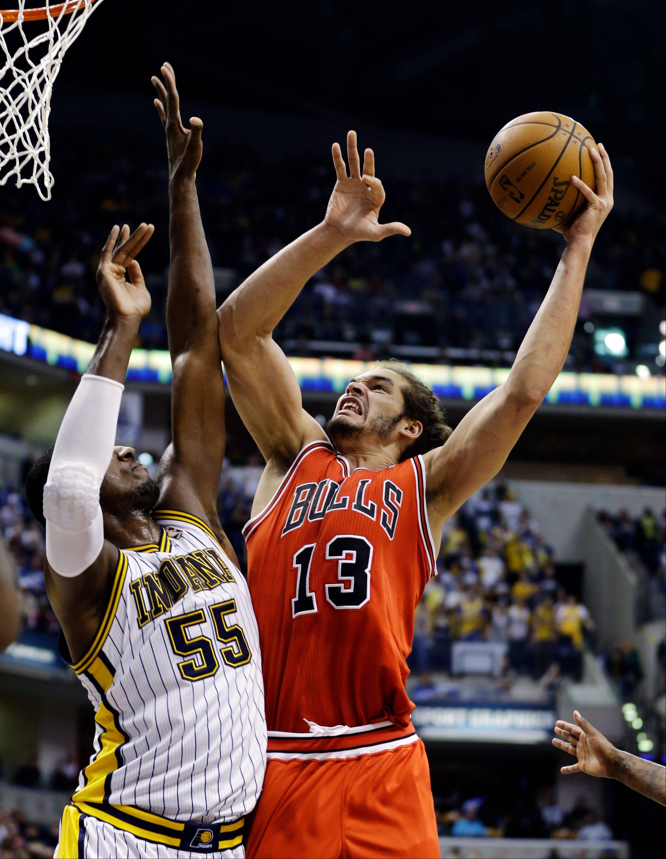 Bulls center Joakim Noah is averaging 38.3 minutes a game this season, eighth most in the league.