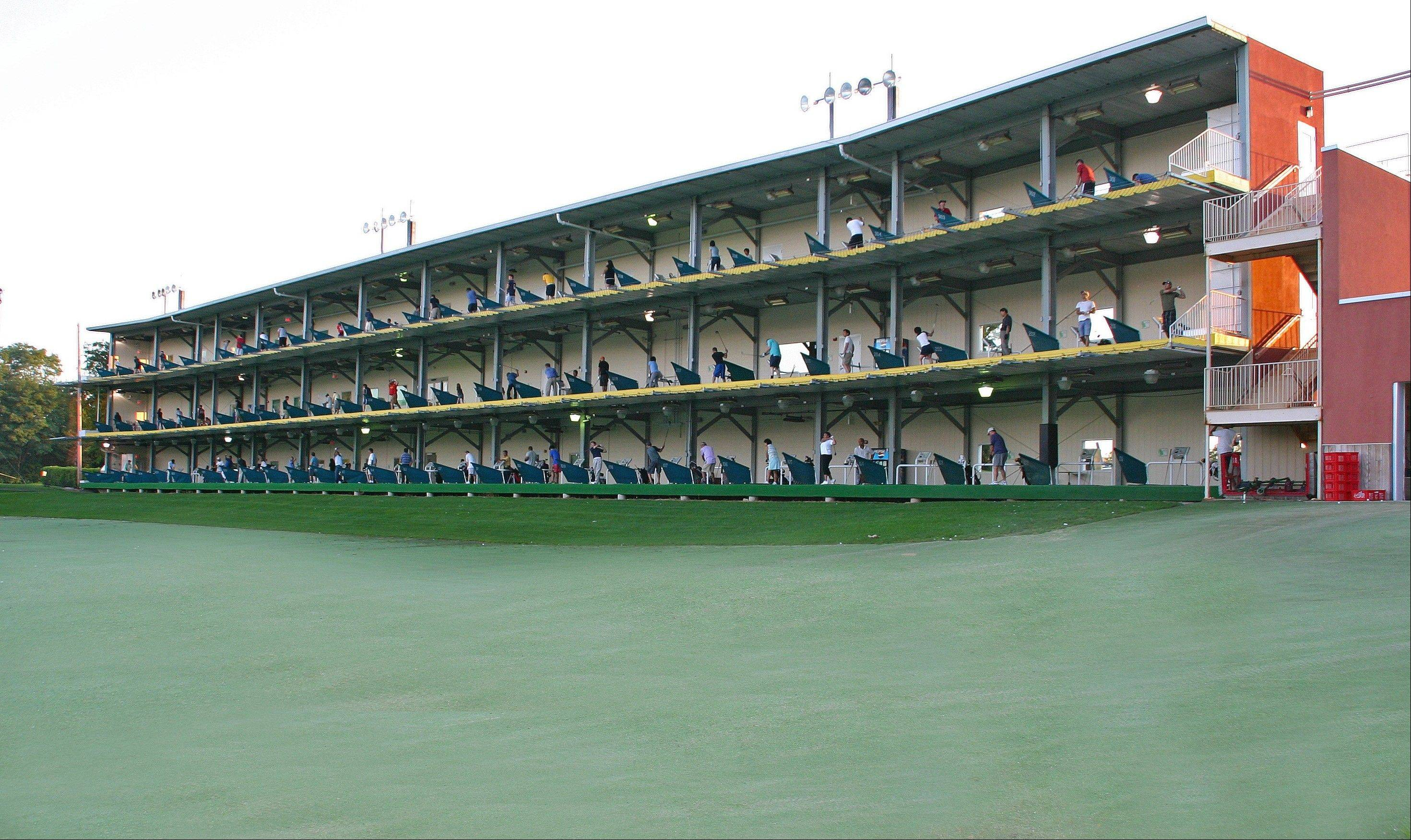 The Golf Center Des Plaines range features three tiers of 80 heated and covered hitting bays.