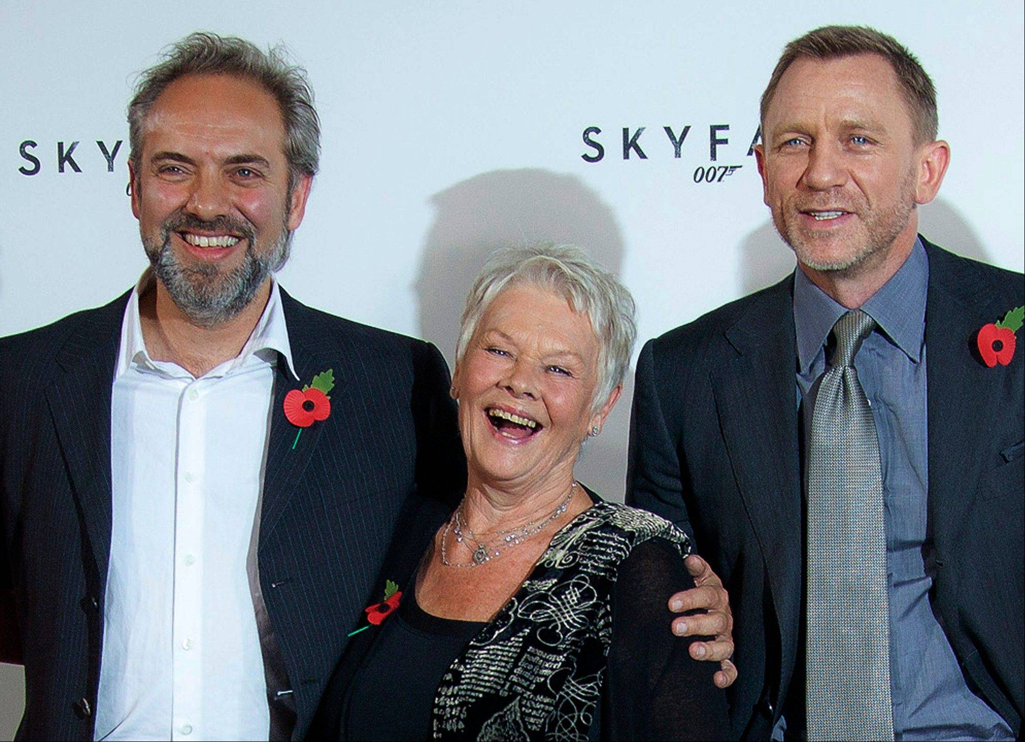 "Film director Sam Mendes and actors Dame Judi Dench and Daniel Craig worked together on the last James Bond film ""Skyfall."" Mendes says he won't be directing the next Bond film."