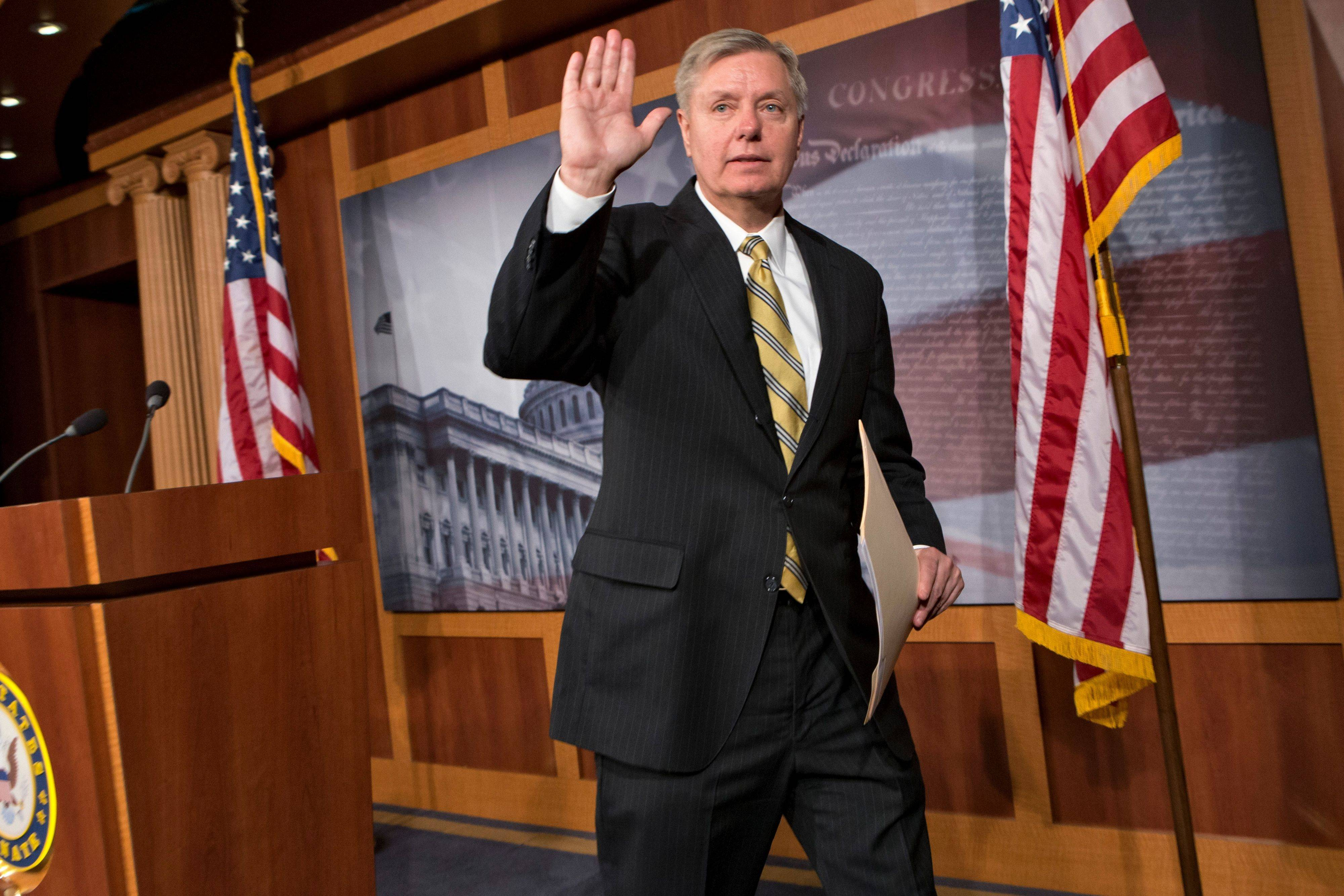 Sen. Lindsey Graham of South Carolina and 11 other Republican senators were invited to dinner by President Barack Obama Wednesday to address political gridlock.
