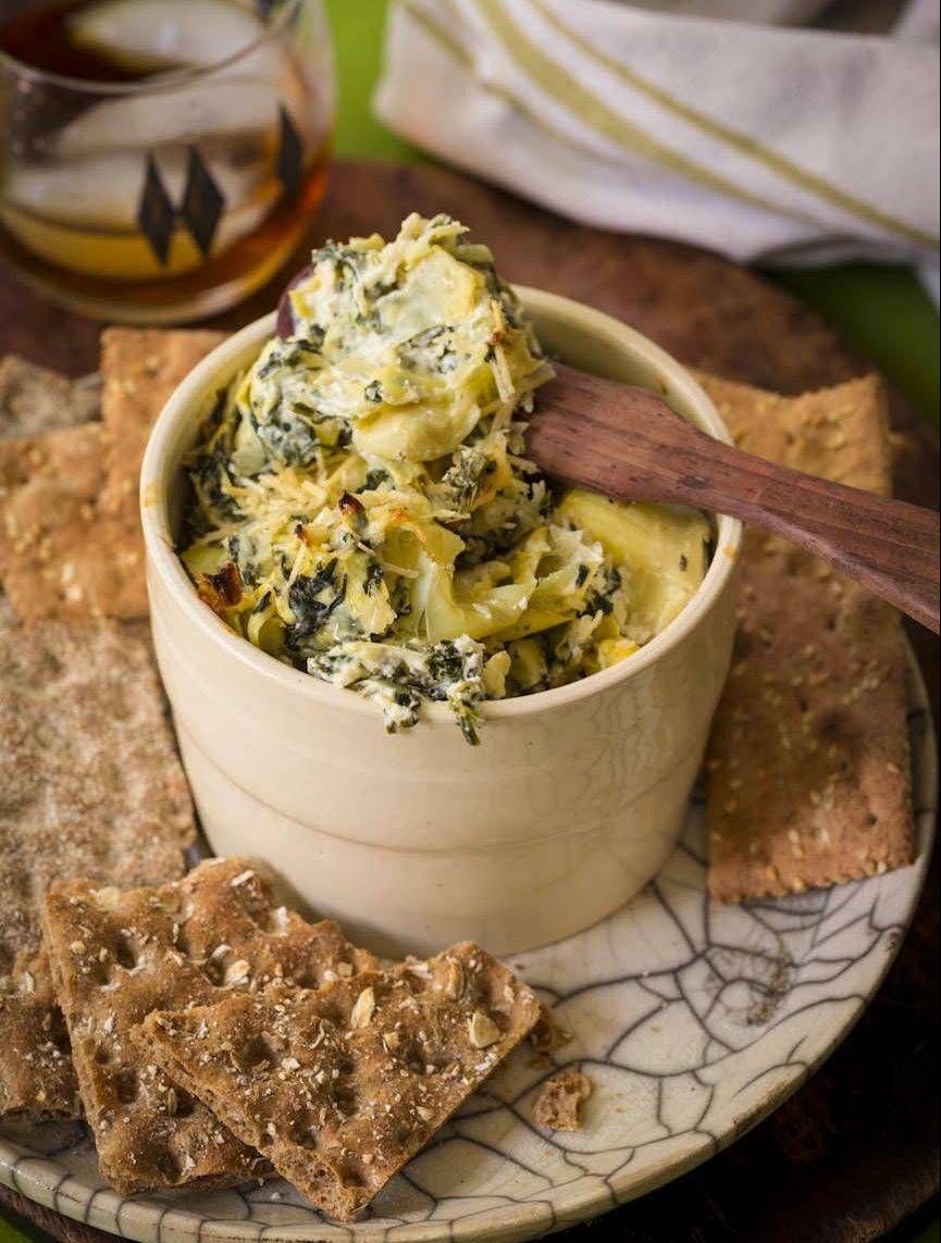 Made with spinach, artichokes and Greek yogurt, this slimmed down dip boasts a fraction of the fat and calories found in restaurant versions.