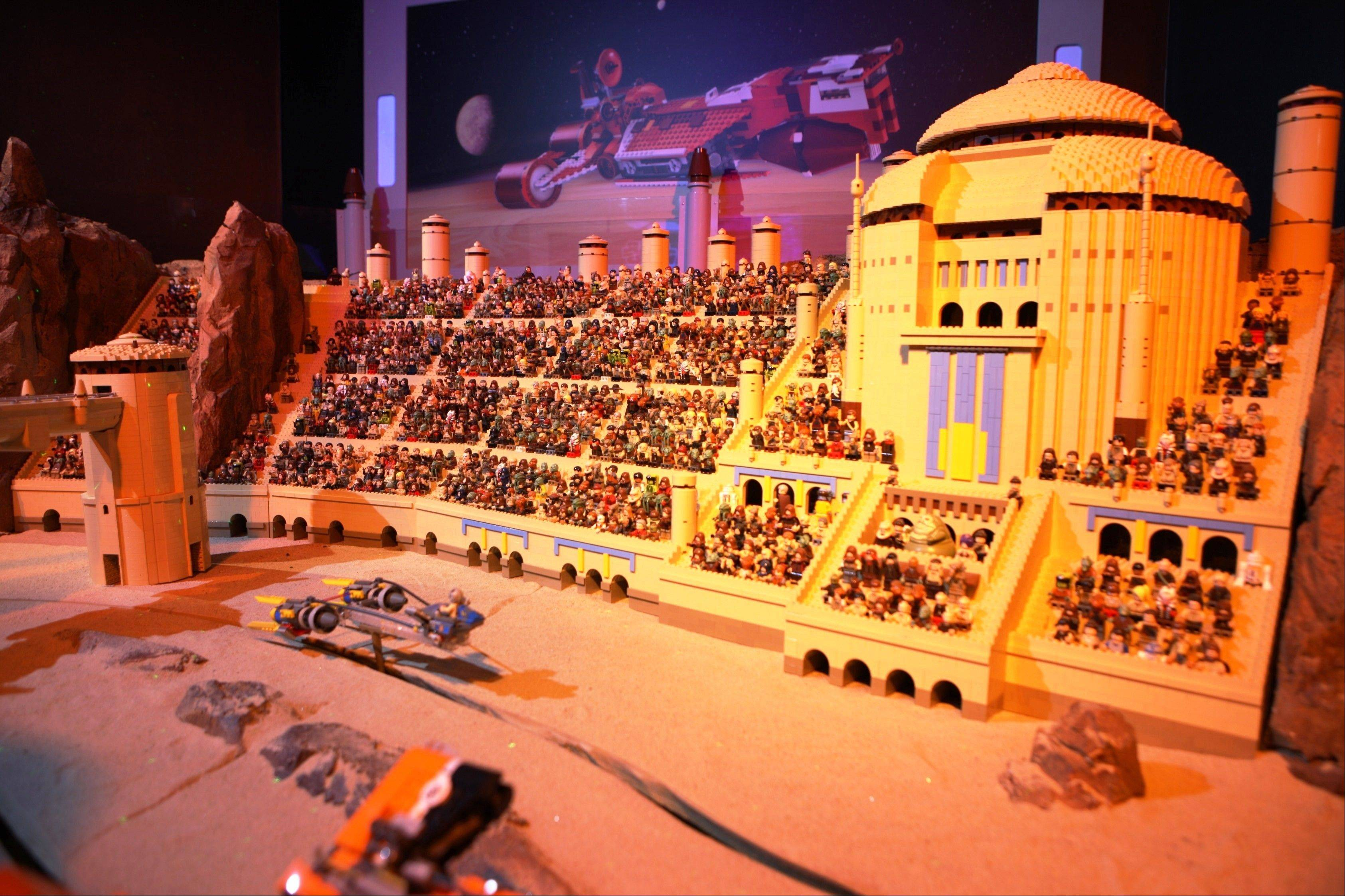 "Legoland Discovery Center in Schaumburg opens its first Lego ""Star Wars"" miniland this weekend. This large-scale interactive model display focuses on ""Star Wars Episode One: The Phantom Menace."""