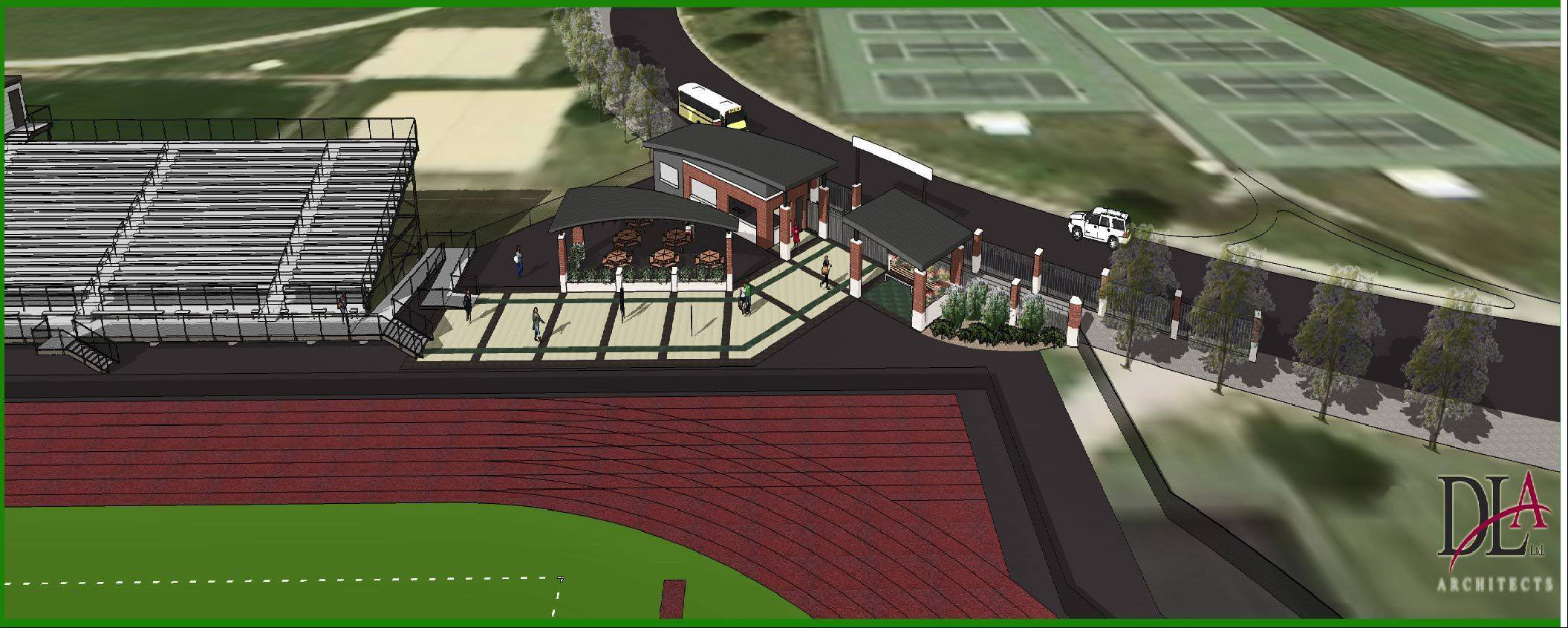 This is a sketch of what the Bartlett High School Activities Complex would look like.