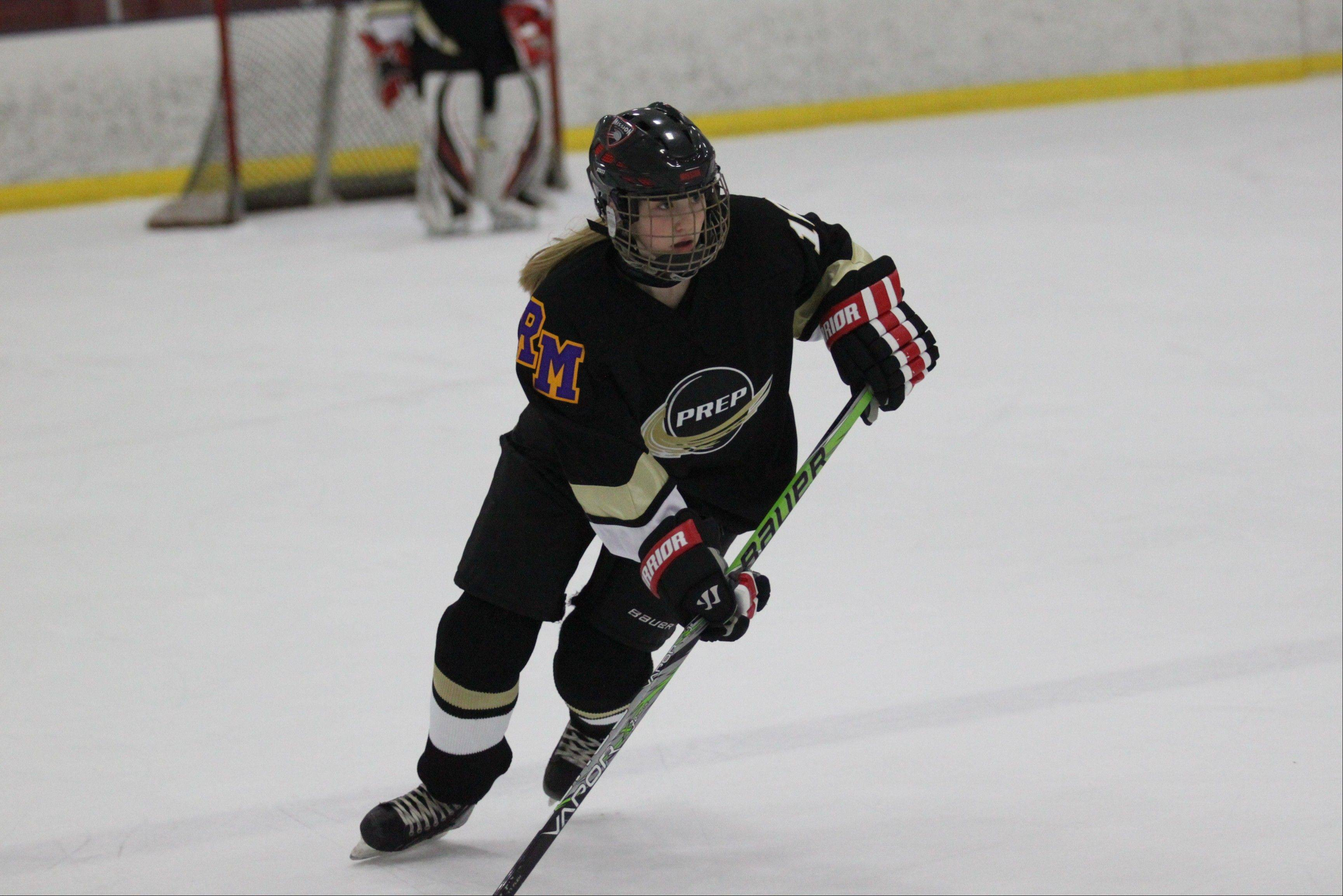 Dakota Golde is making her mark as a freshman defenseman on the PREP varsity boys hockey team.