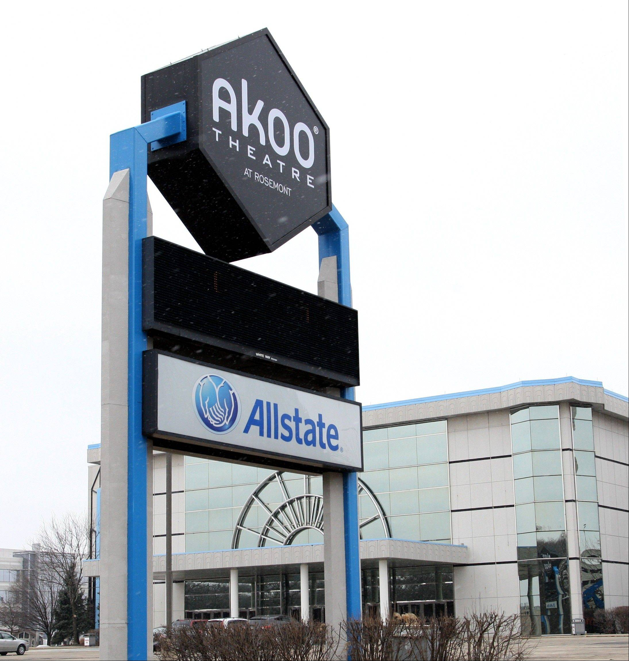 The Rosemont Theatre reverted back to its original name after Akoo International Inc. went out of business.