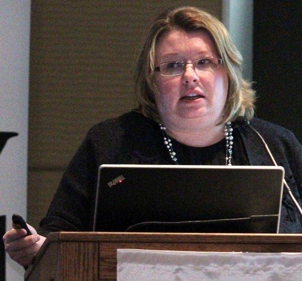 Angela Adams, director of human resources at The Management Association in Downers Grove, was part of a panel to discuss the Affordable Care Act Wednesday at the Renaissance Schaumburg Convention Center.