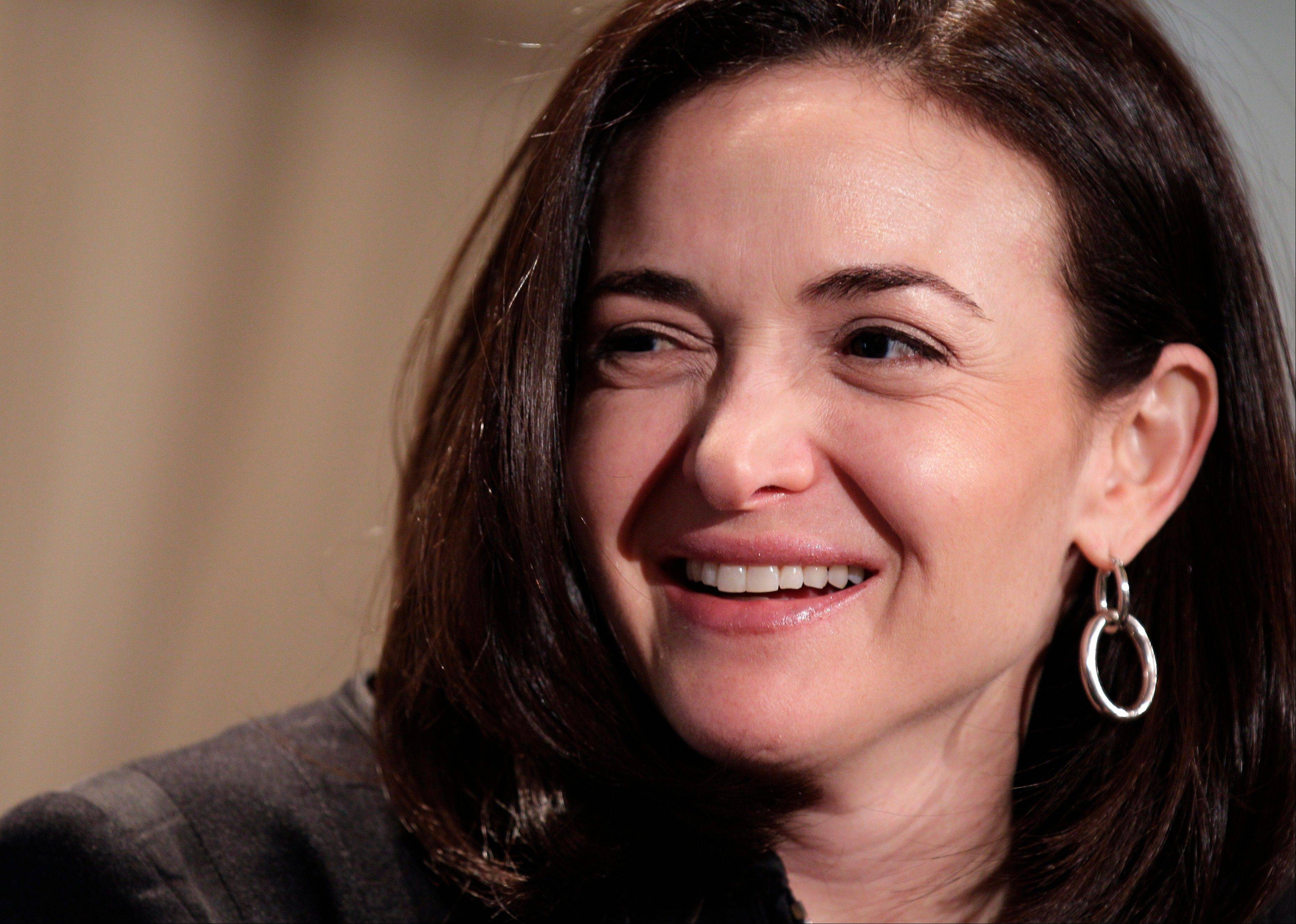 Sheryl Sandberg, Facebook's chief operating officer, speaks at a luncheon for the American Society of News Editors in San Diego.
