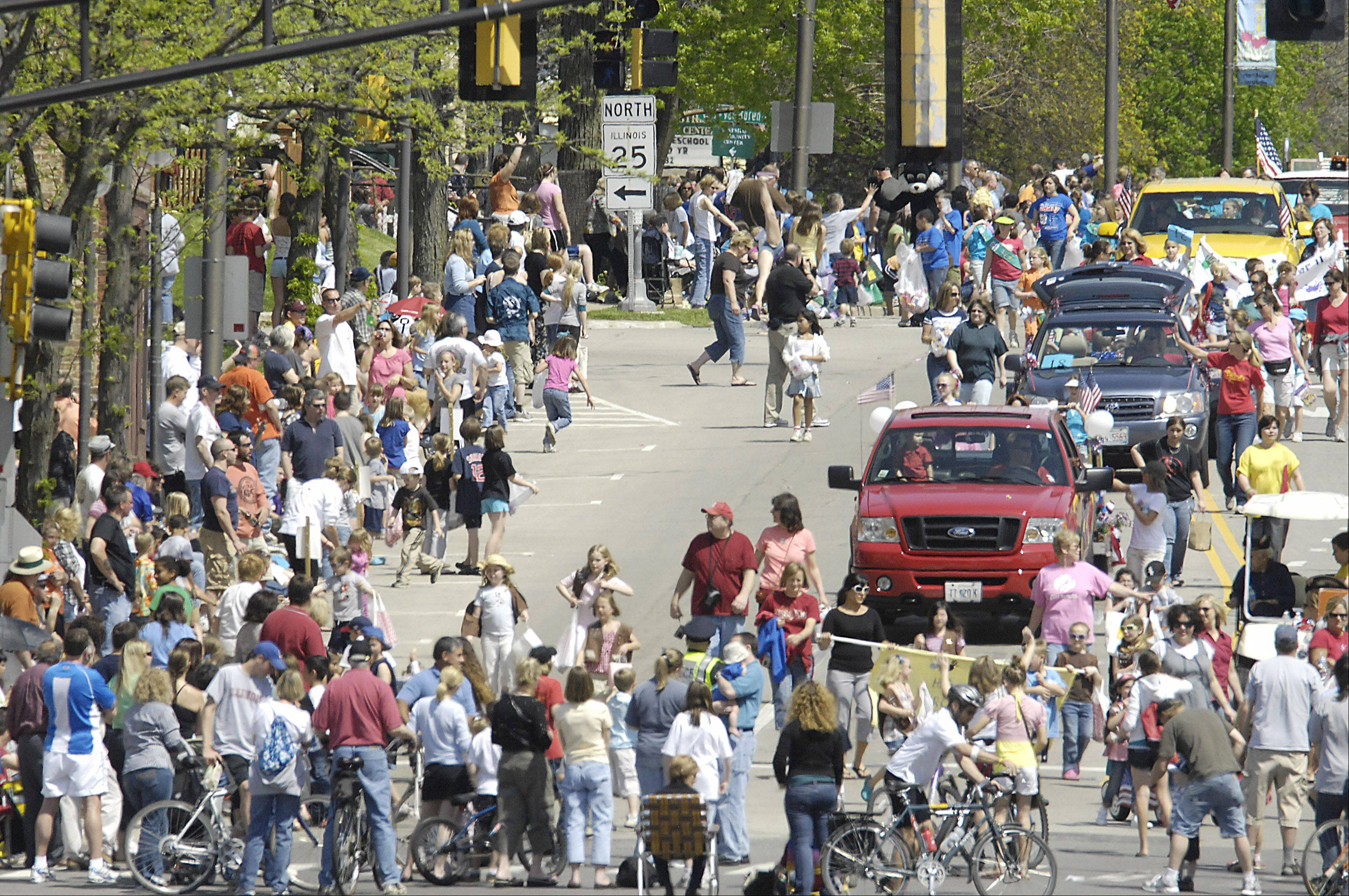 The Loyalty Day Parade brings quite a crowd to Batavia.