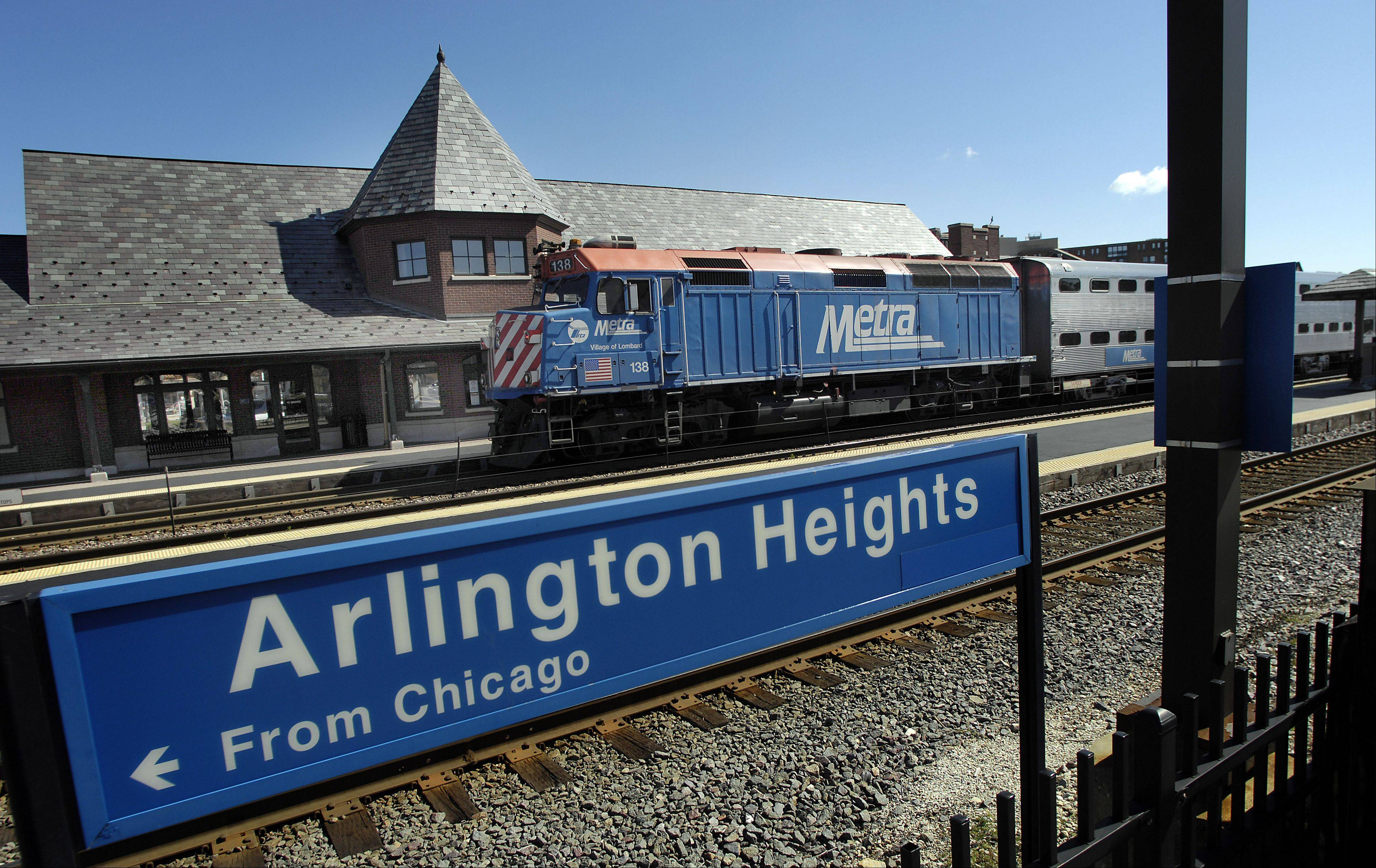 Daily Herald File PhotoIt's going to stay the Arlington Heights Metra station, for now.