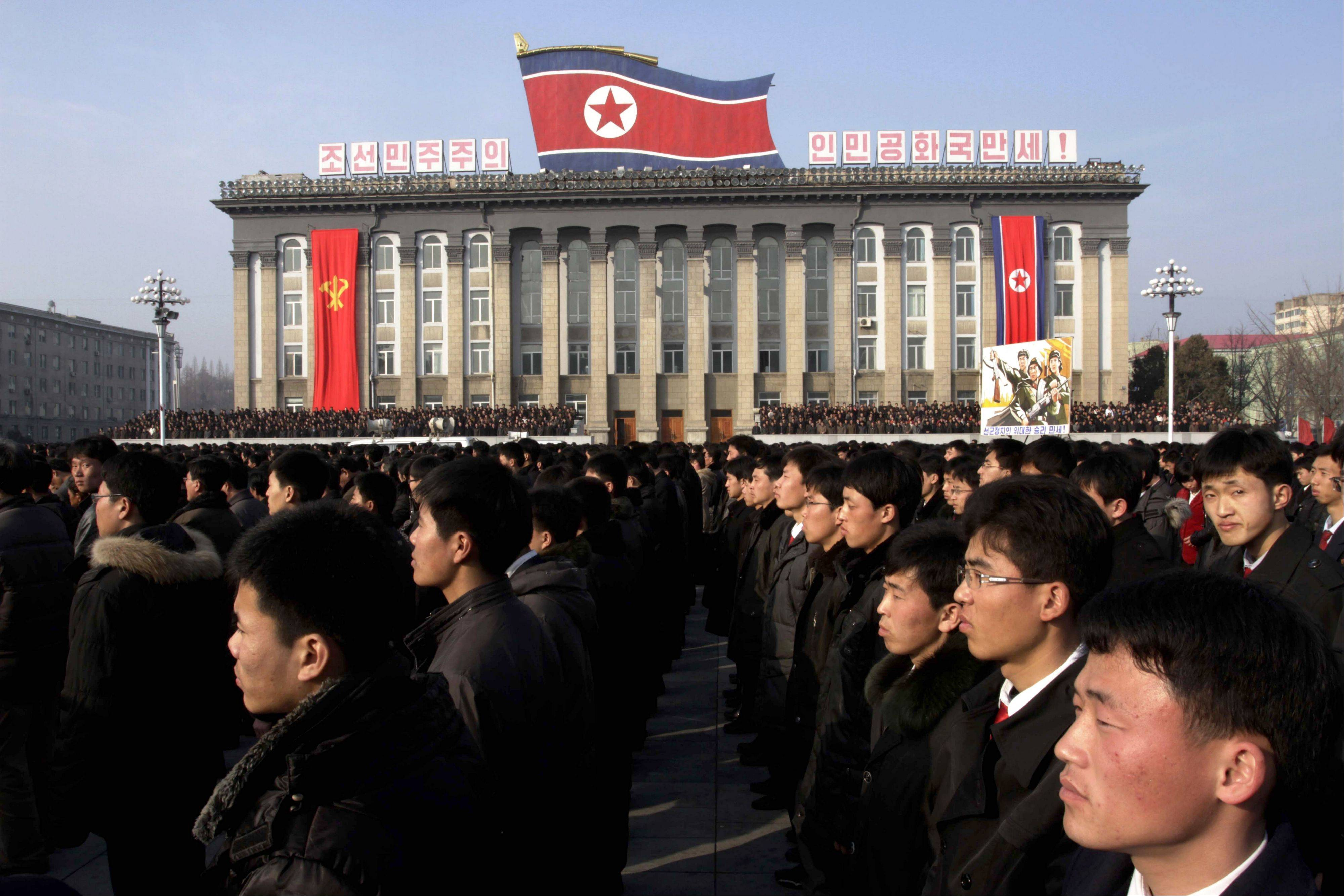 "North Koreans attend a rally in support of a statement given on Tuesday by a spokesman for the Supreme Command of the Korean People's Army vowing to cancel the 1953 cease-fire that ended the Korean War as well as boasting of the North's ownership of ""lighter and smaller nukes"" and its ability to execute ""surgical strikes"" meant to unify the divided Korean Peninsula. North Korea on Thursday vowed to launch a pre-emptive nuclear strike against the United States, amplifying its threatening rhetoric hours ahead of a vote by U.N. diplomats on whether to level new sanctions against Pyongyang for its recent nuclear test."