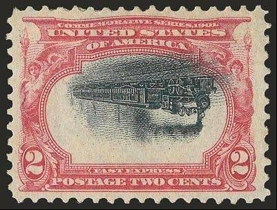 A printing error makes this stamp far more valuable than its 2-cent price tag. One of only seven in the world, it sold for $7,500 in 1978 and now is valued at $46,000.