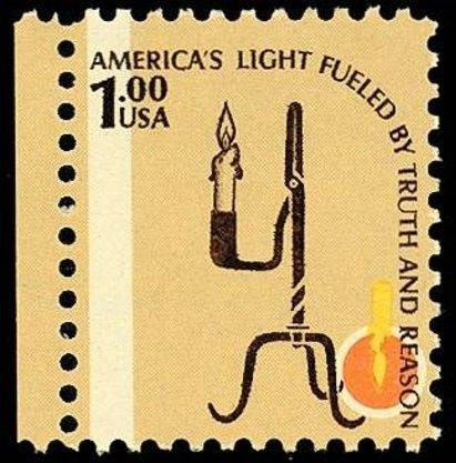 The upside-down flame in the lower right corner makes this $1 stamp honoring the CIA worth $20,000.