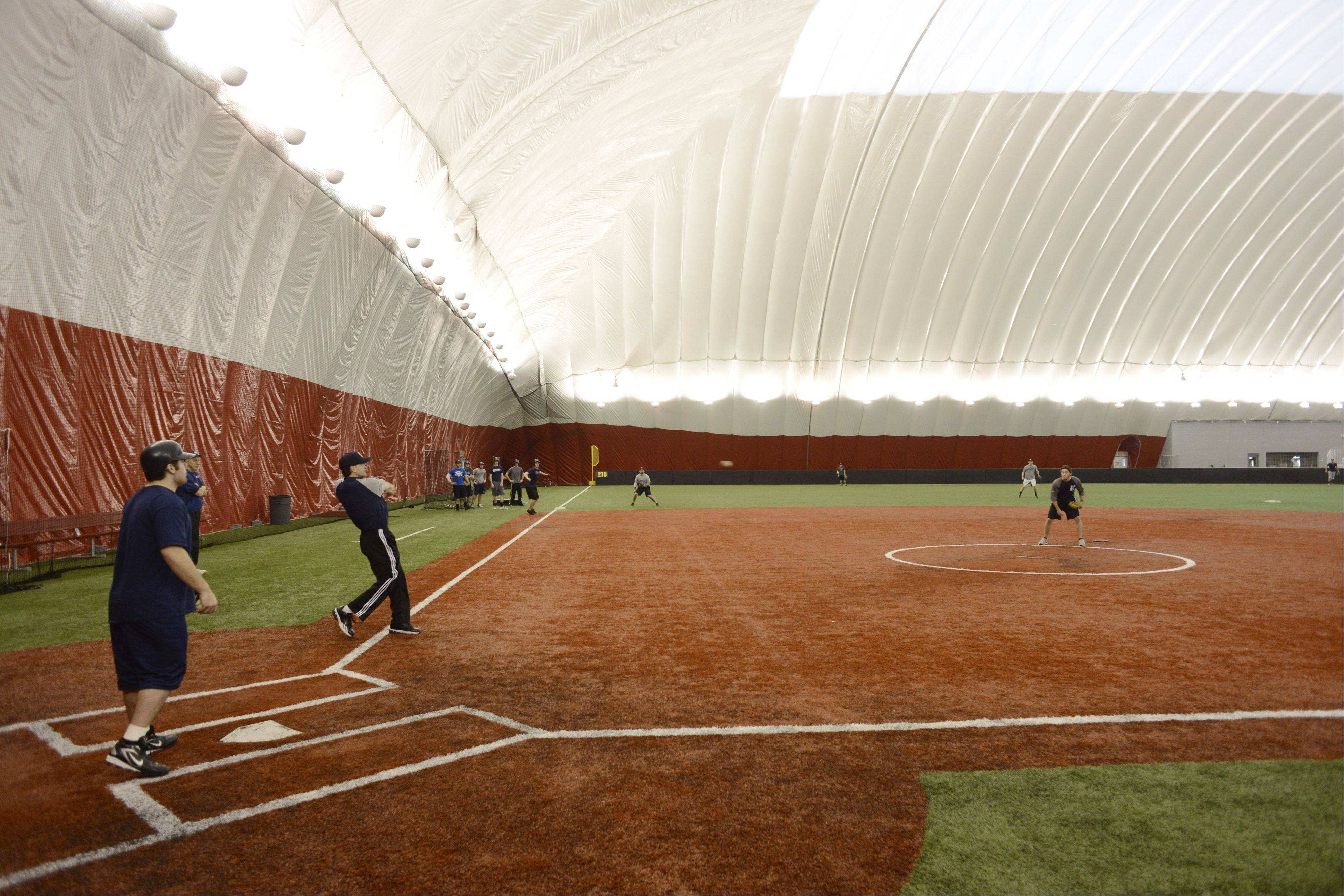 The Dome at the Ballpark in Rosemont is the latest indoor sports attraction. The Chicago Bandits will also use it as a practice facility when they can't use the stadium.
