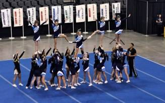 2012 8th Grade Varsity Competition Squad performing at the Illinois Recreational Cheerleading Association State Championships.
