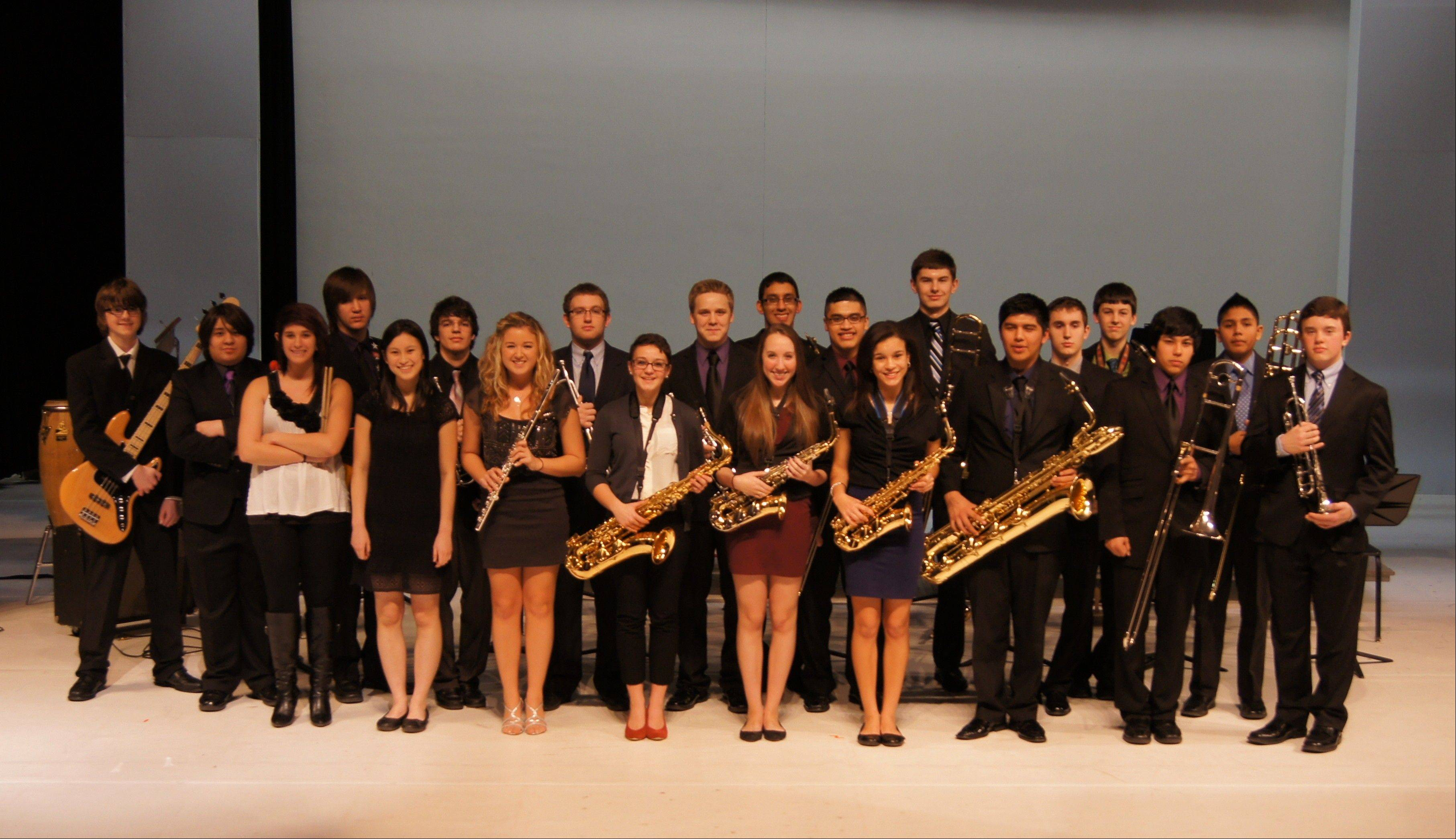 Wheeling Jazz Band I finished second in Jazz in the Meadows Feb. 23, at Rolling Meadows High School.