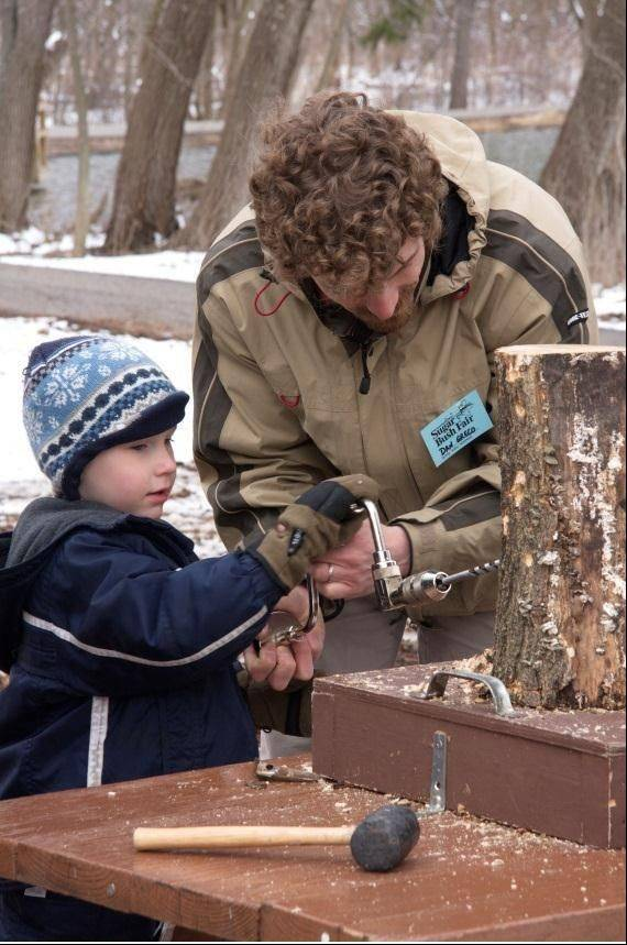 Through Friday, March 29, children can learn how maple trees are tapped and how sap collected is used to make maple syrup and sugar at Spring Valley Nature Center's maple sugaring programs for youth groups.