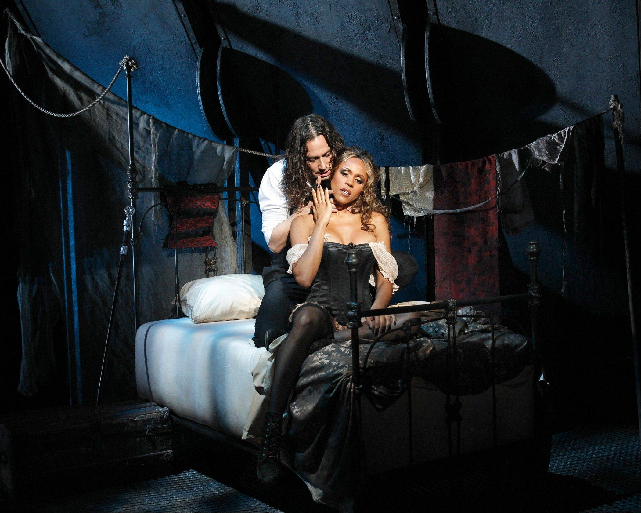 "Constantine Maroulis stars as the murderous Edward Hyde and Deborah Cox as the prostitute Lucy in the Broadway-bound national tour of the 1997 musical ""Jekyll & Hyde."""