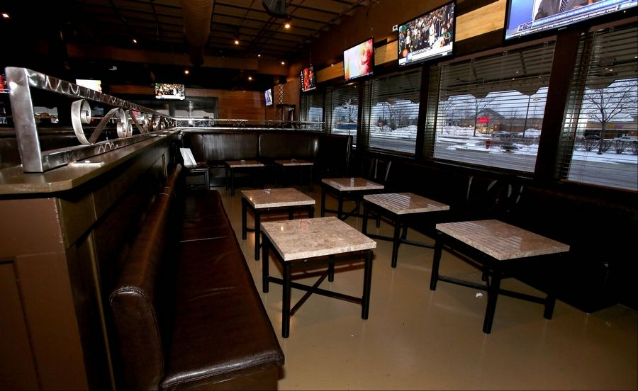 A V.I.P. sitting area at the Spotted Fox Ale House in St. Charles can be reserved for special gatherings.
