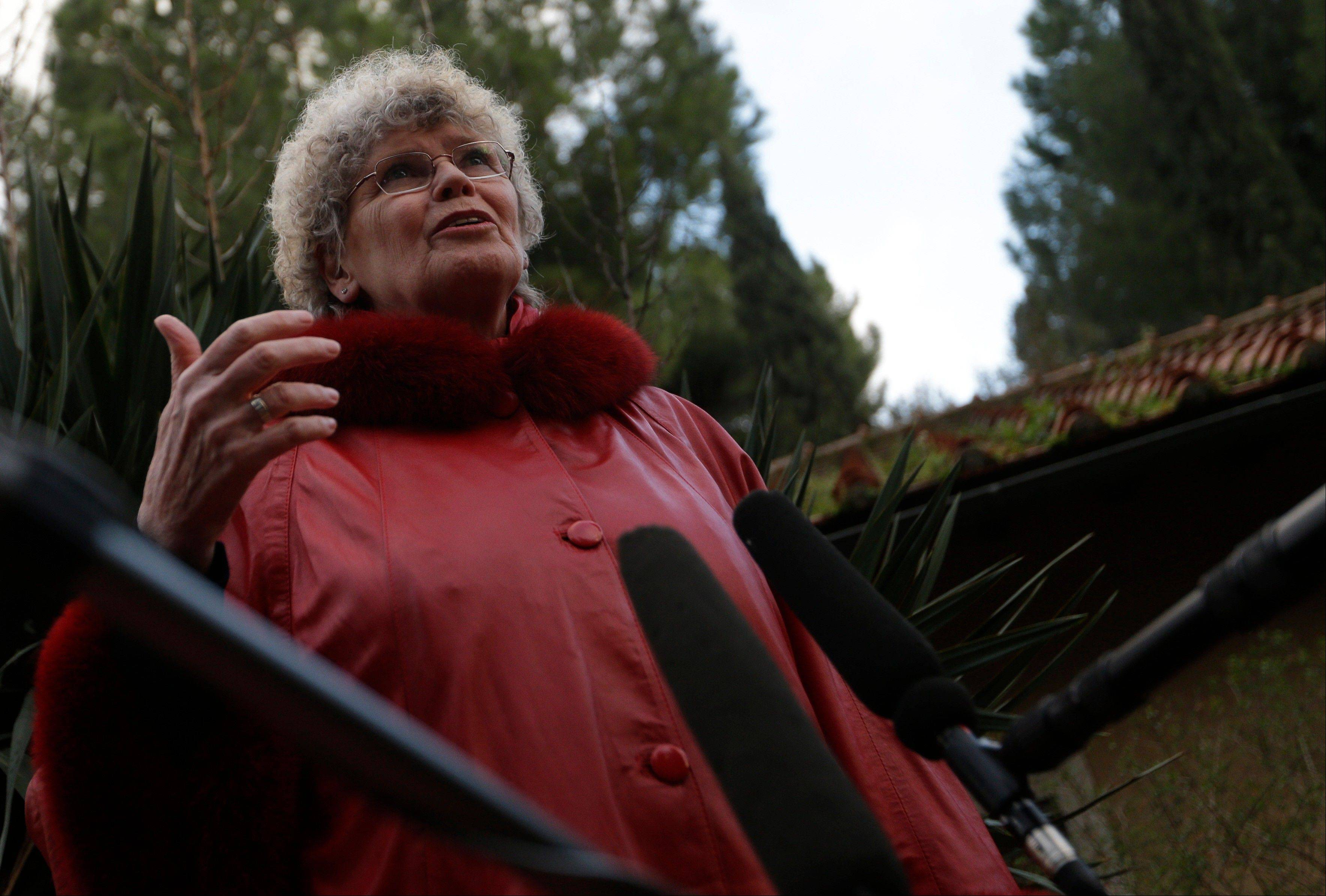 "Martha Heizer, president of the International Movement ""We are Church"", meets reporters in Rome. Advocacy groups from around the world have descended on Rome to try to publicize their causes while media attention on the Vatican is high."