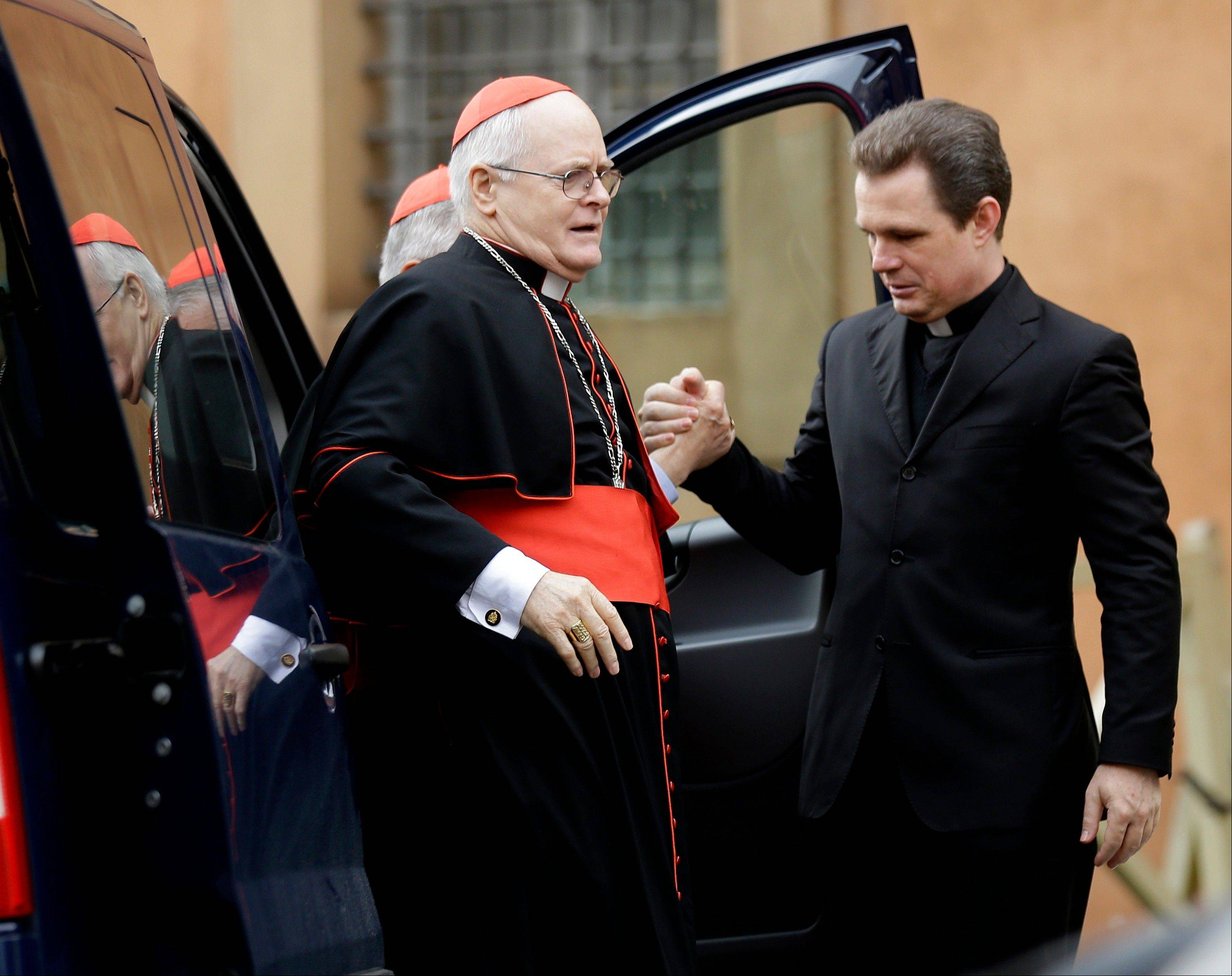 Cardinal Odilo Pedro Scherer arrives for a meeting at the Vatican, Friday, March 8, 2013. The Vatican says the conclave to elect a new pope will likely start in the first few days of next week.