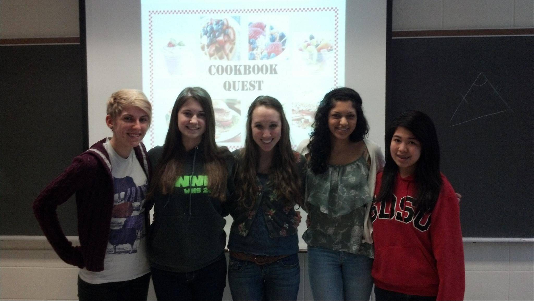 "Courtesy of District 214From left, Gosia Markiewicz, Kamila Sikora, Skyler McLenahan, Pranati Mondkar and Jessica Mamalio, ""Best in State"" at the Verizon Innovative App Challenge."