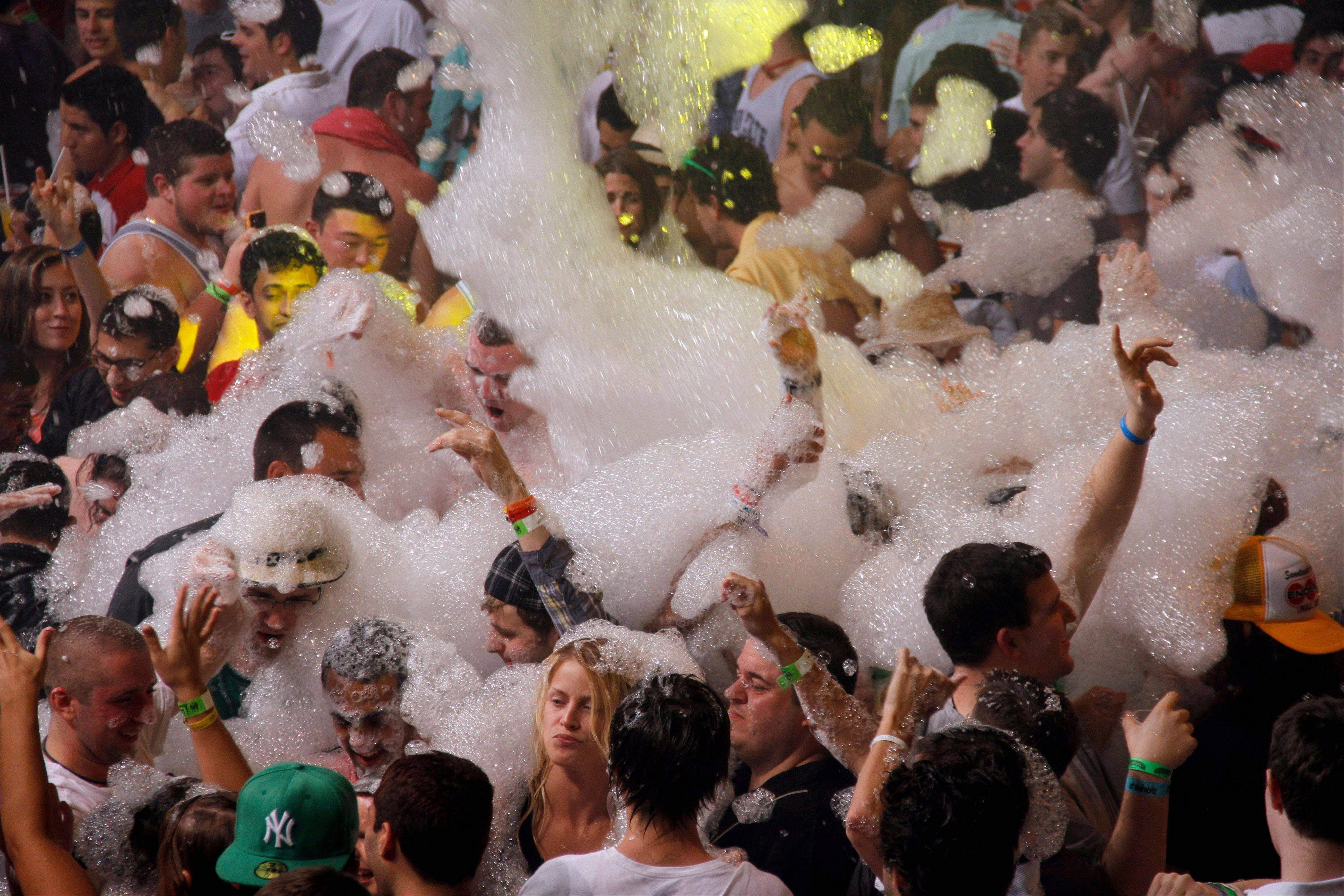 Spring break revelers enjoy a foam party at a nightclub in the resort city of Cancun, Mexico. Cancun is the No. 1 foreign destination for U.S. college students.
