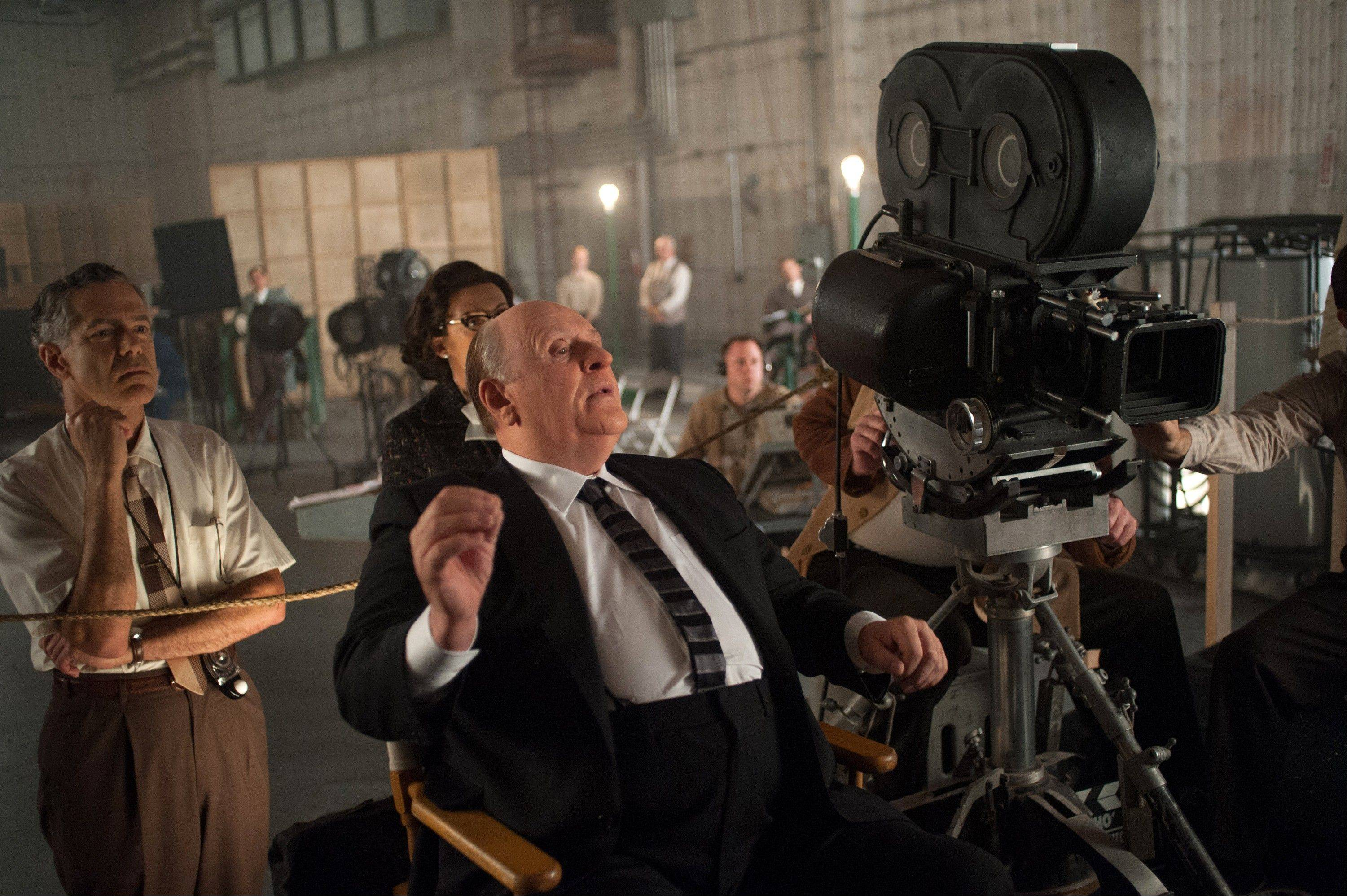 Anthony Hopkins plays Alfred Hitchcock in �Hitchcock� set during the making of the film �Psycho.�