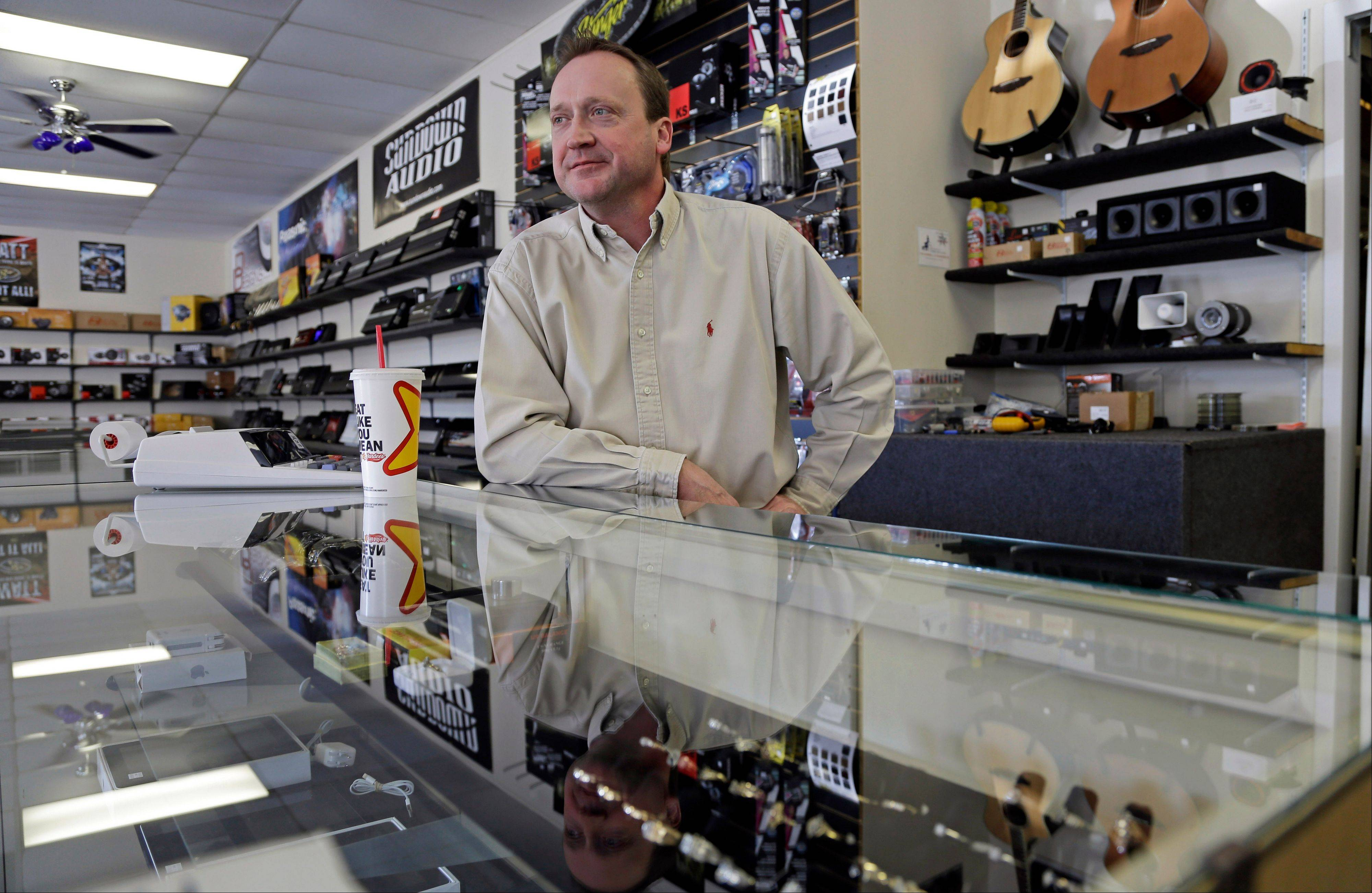 Tom Raper, owner of Bragg Pawn Shop, talks about small business near Fort Bragg military base.
