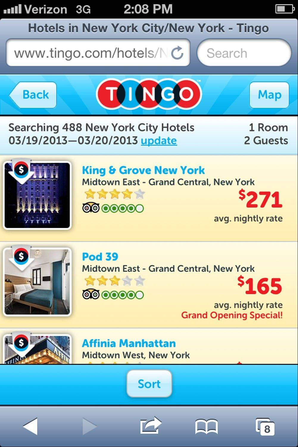 Tingo is one of a growing number of services that aim to save travelers money on their hotel stays.