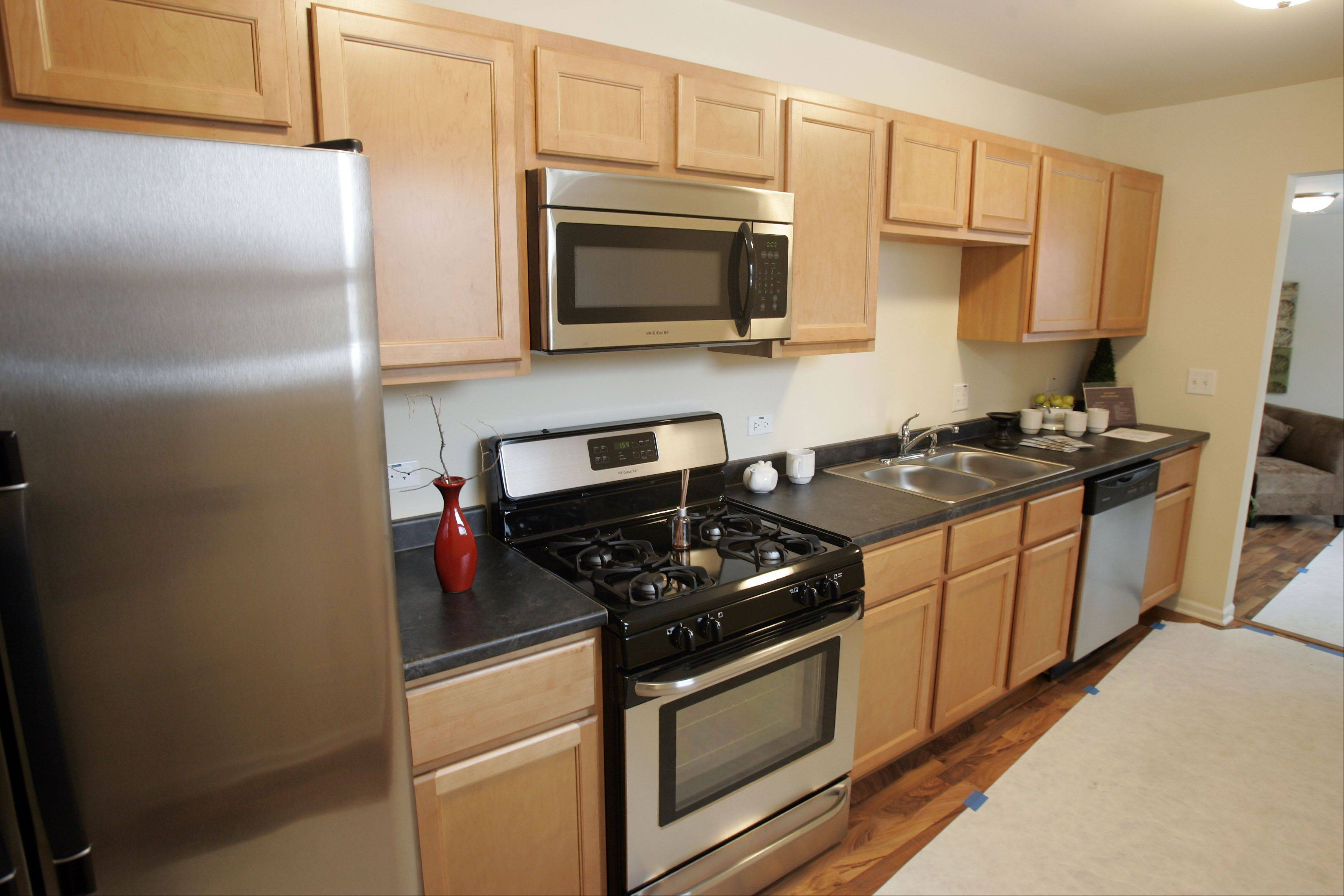 A kitchen in one of the many rehabbed houses being sold by Homes by OTTO in Carpentersville.