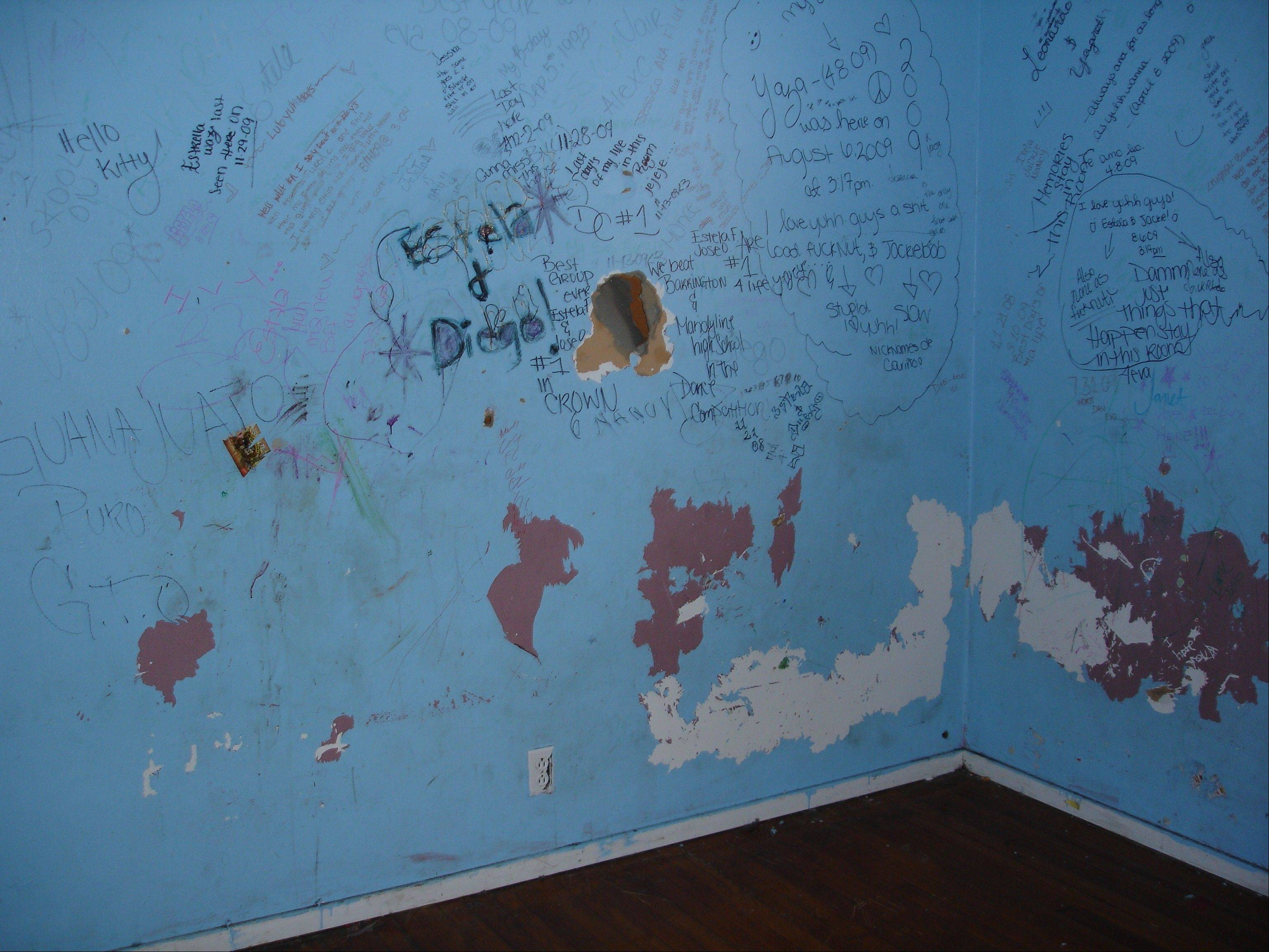 Many of the vacant homes in Meadowdale that were purchased and refurbished had been vandalized.